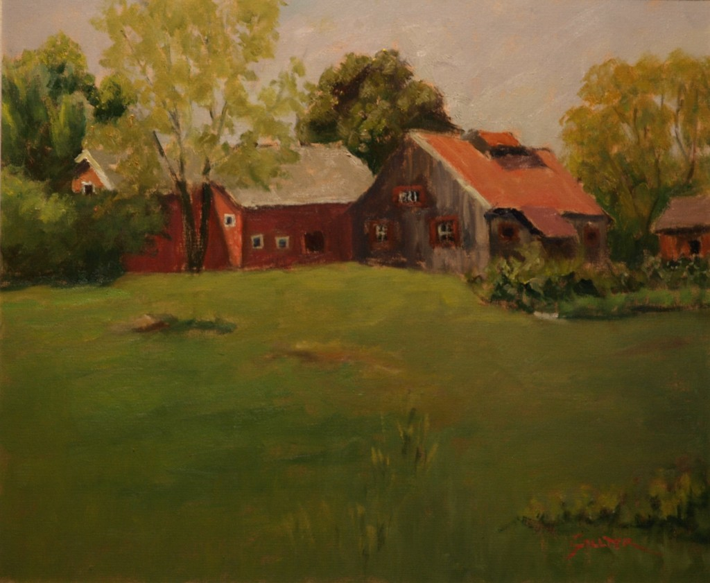 Sullivan Farms, Oil on Canvas, 20 x 24 Inches, by Richard Stalter, $850