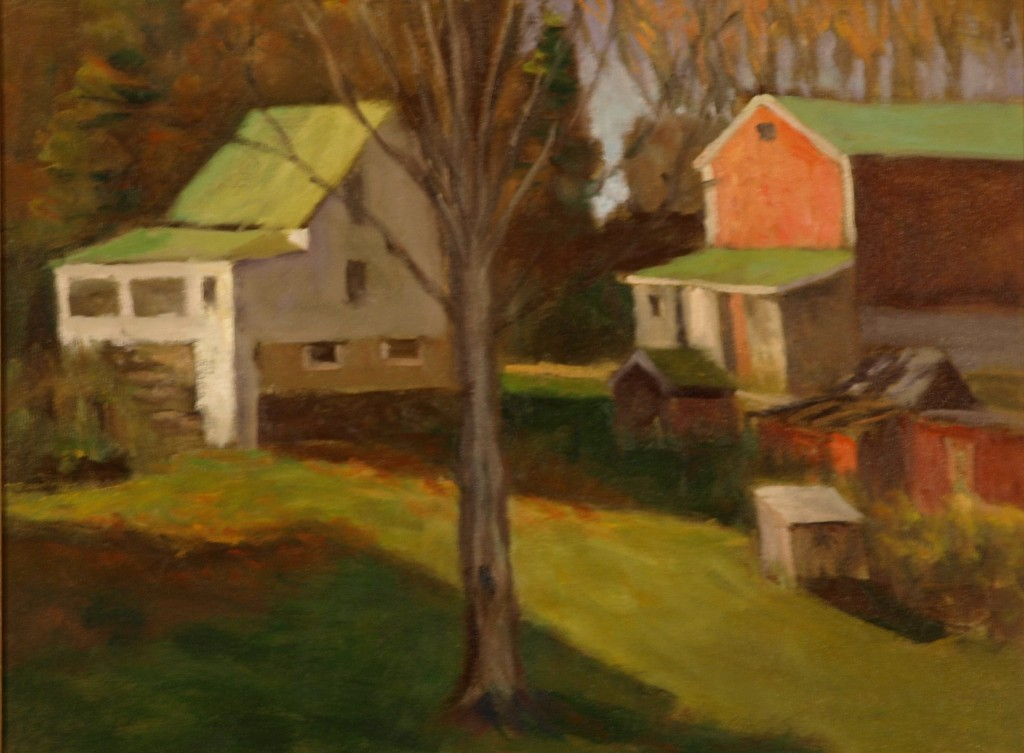 Sunny Fall Day - Hipp Farm, Oil on Canvas, 18 x 24 Inches, by Richard Stalter, $600