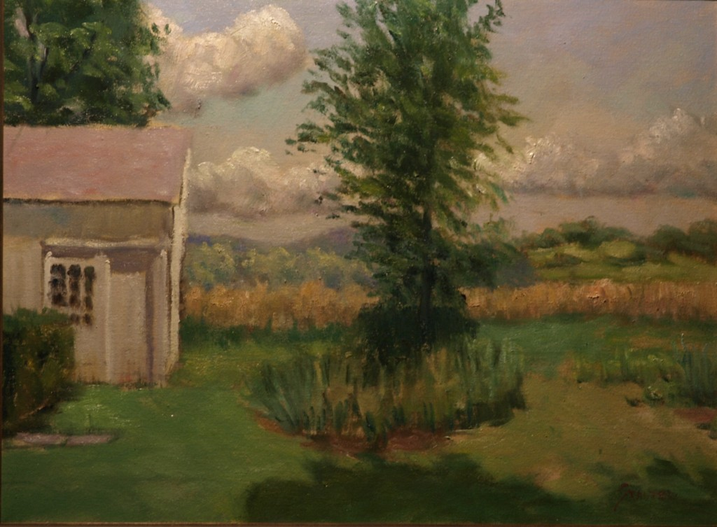 Sandra's Farm, Oil on Canvas, 18 x 24 Inches, by Richard Stalter, $650