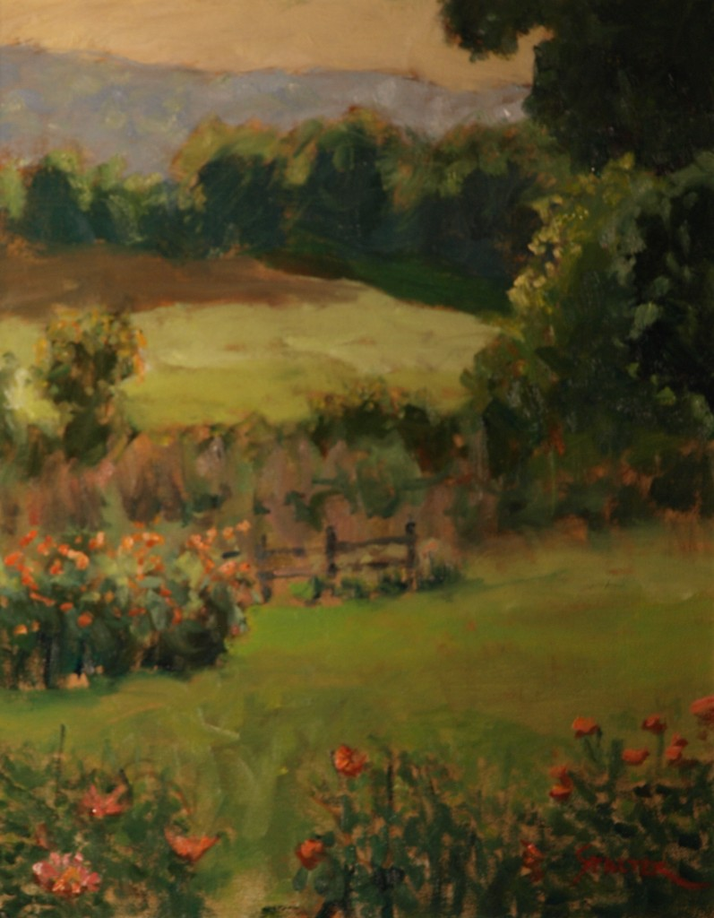 Fields at Sullivan Farms, Oil on Canvas, 20 x 26 Inches, by Richard Stalter, $650