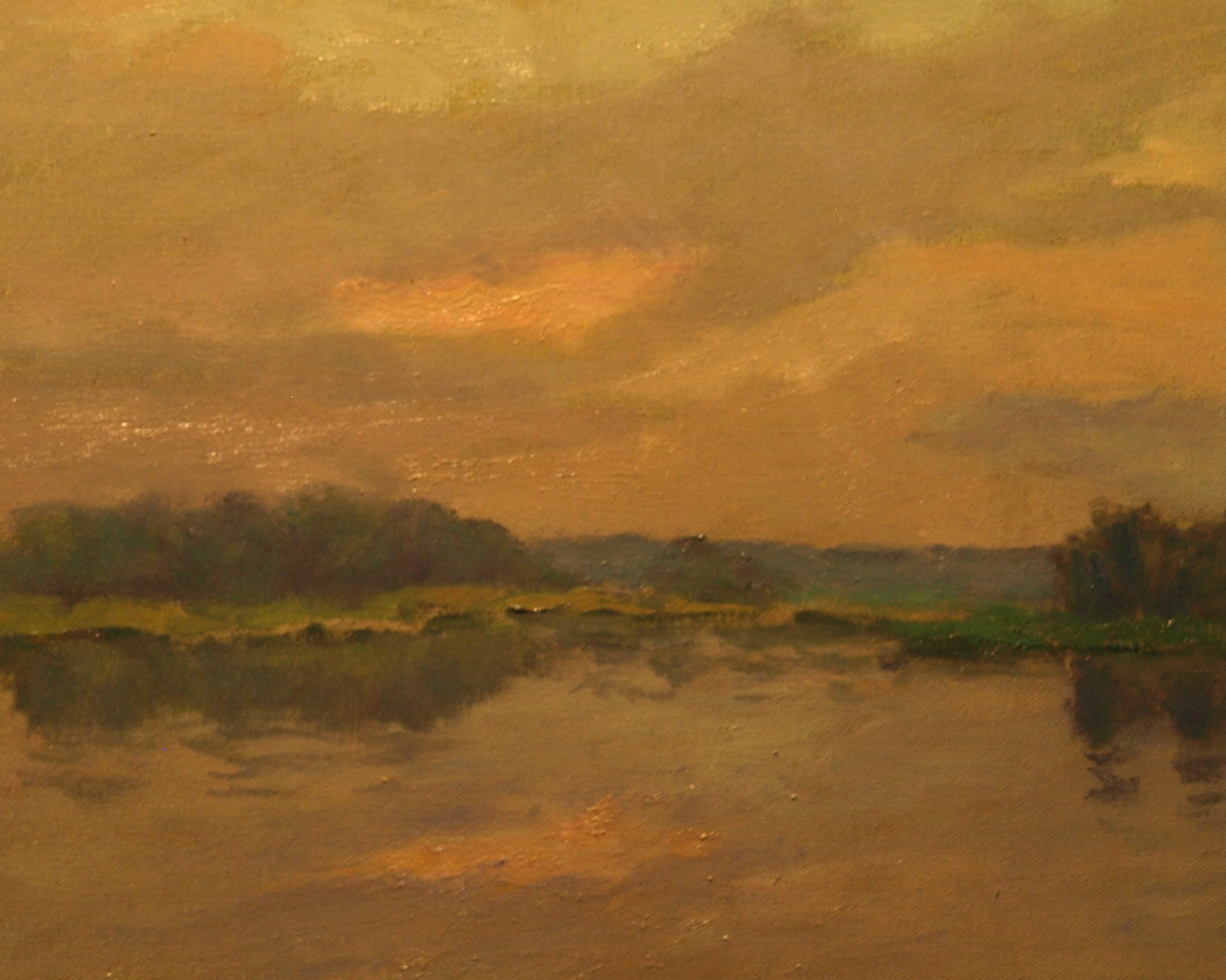 Overcast Sunrise, Oil on Canvas, 16 x 20 Inches, by Richard Stalter, $450