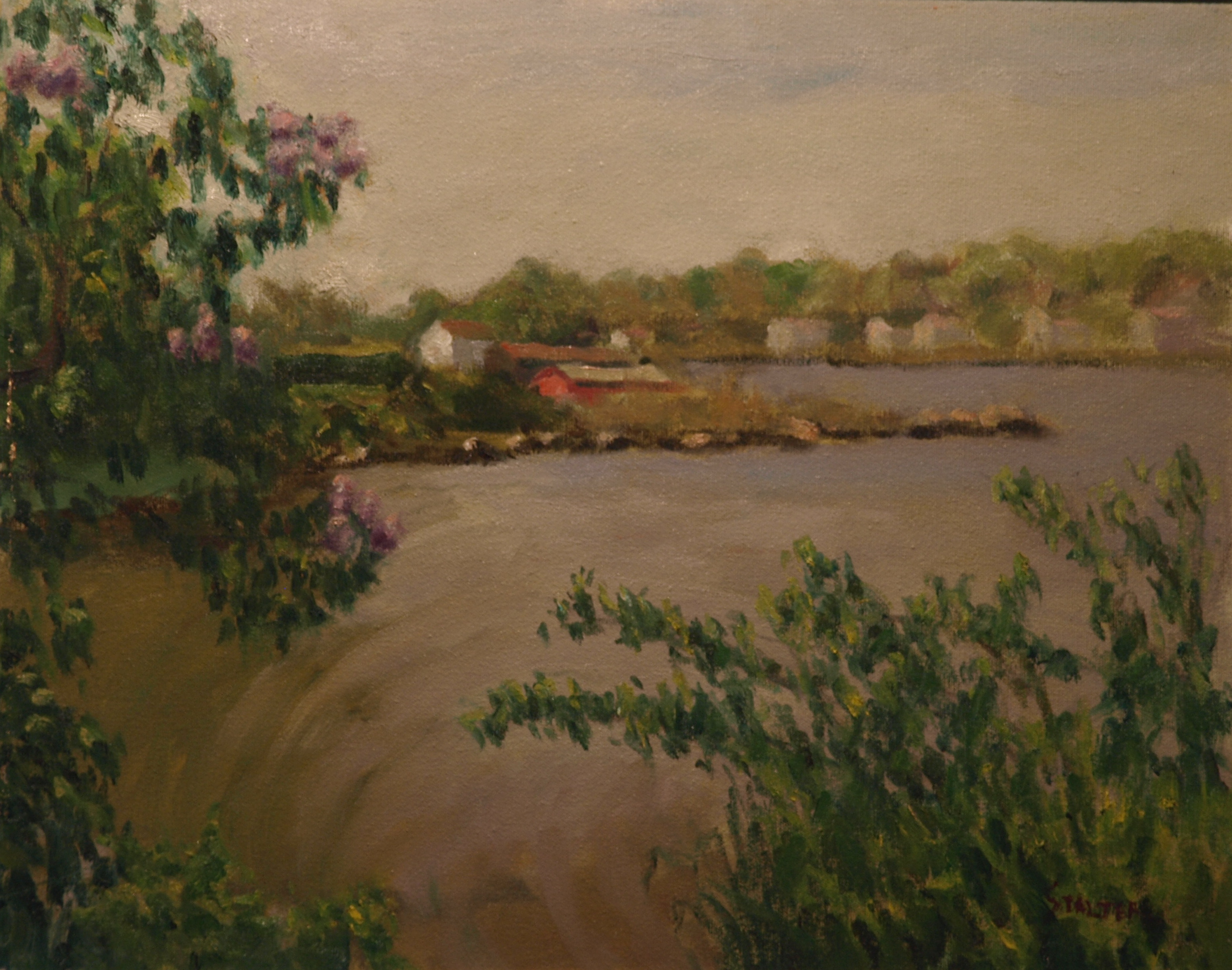View from Kitchen Little, Oil on Canvas, 16 x 20 Inches, by Richard Stalter, $650