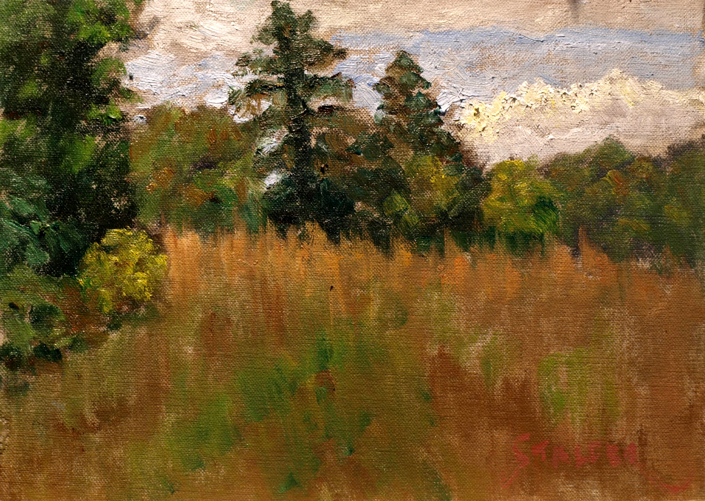 Upland Meadow, Oil on Canvas on Panel, 9 x 12 Inches, by Richard Stalter, $225