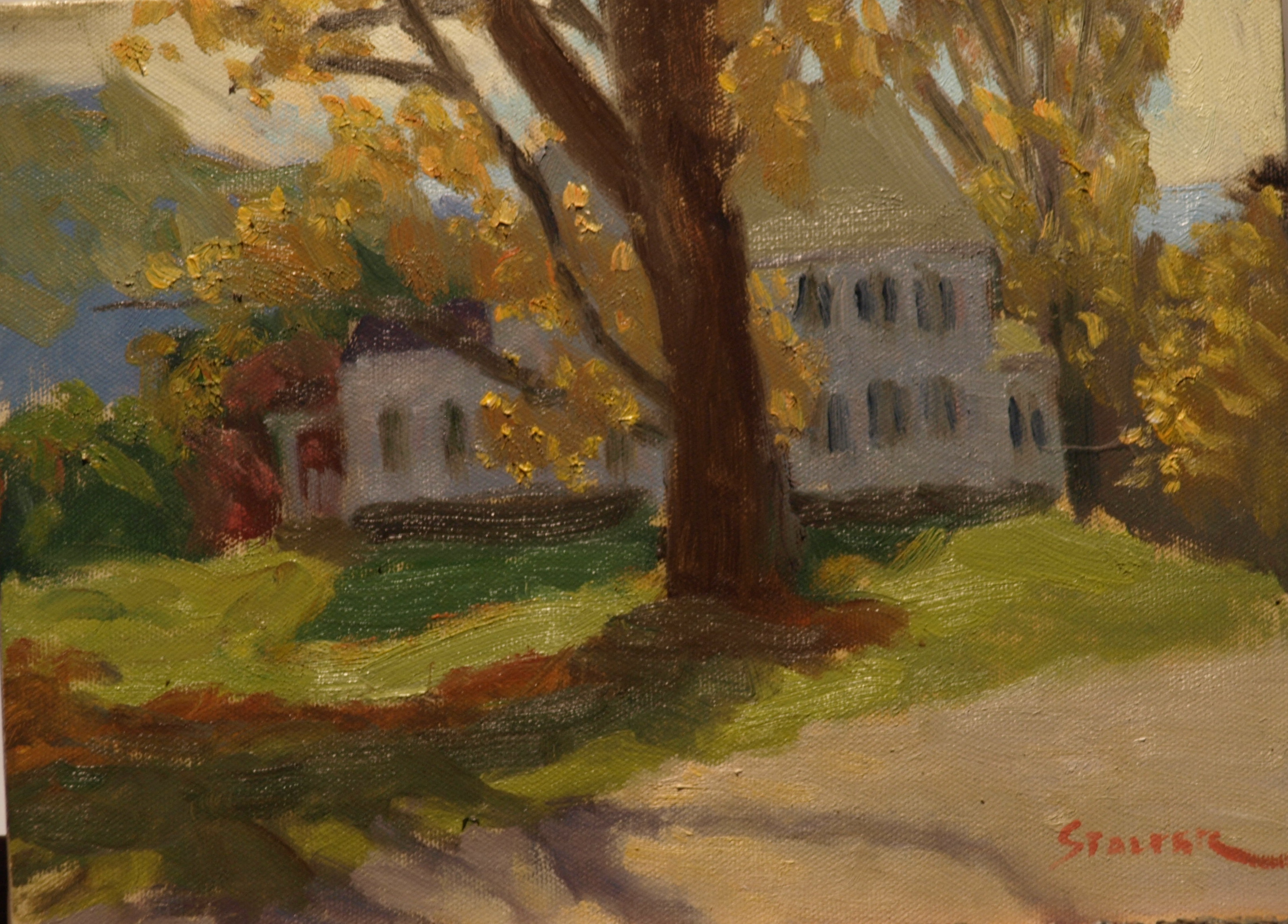 Shadows at Sunset, Oil on Canvas, 9 x 12 Inches, by Richard Stalter, $225