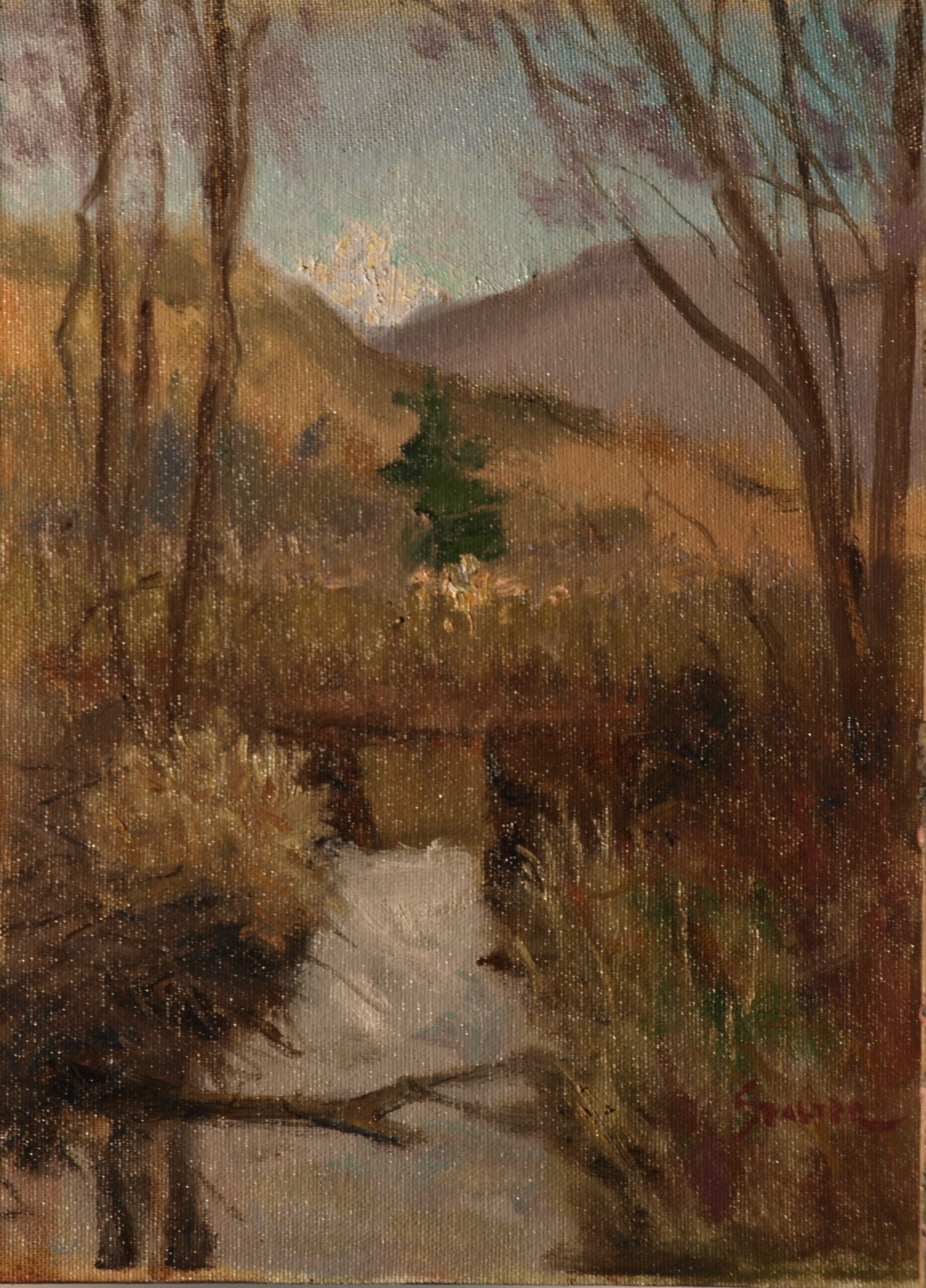 Austin's Marsh - Late Autumn, Oil on Canvas on Panel, 12 x 9 Inches, by Richard Stalter, $225