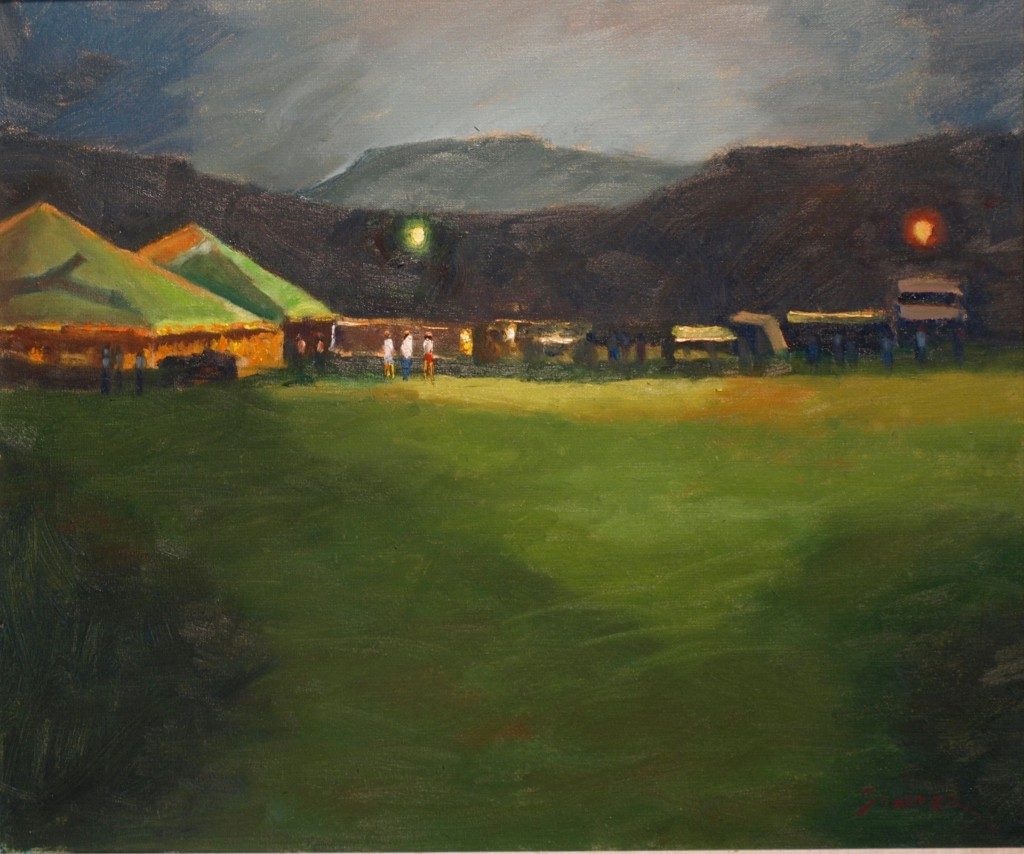 Night at the Fair, Oil on Canvas, 20 x 24 Inches, by Richard Stalter, $750