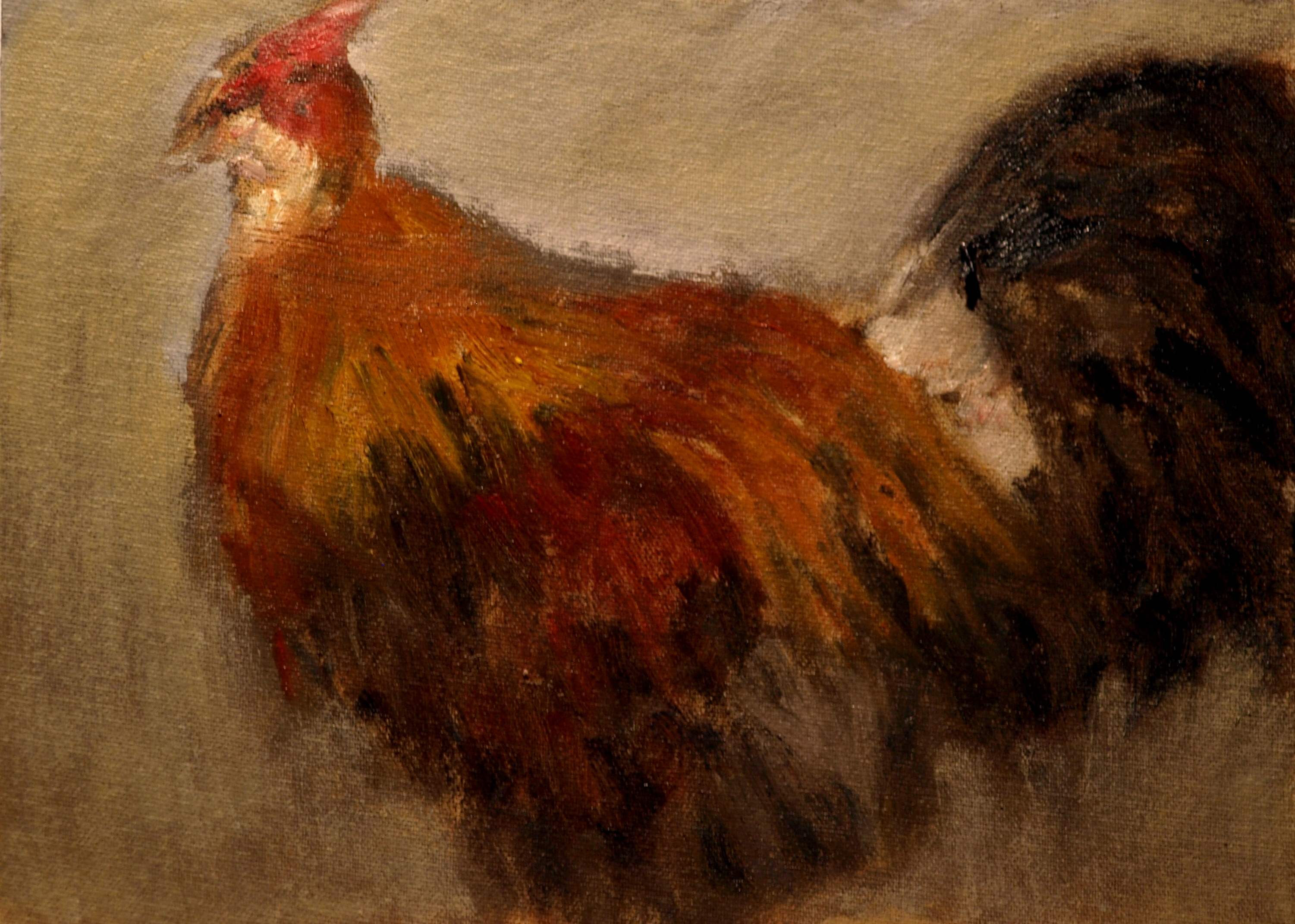 Blue Western Americana, Oil on Canvas on Panel, 9 x 12 Inches, by Richard Stalter, $225