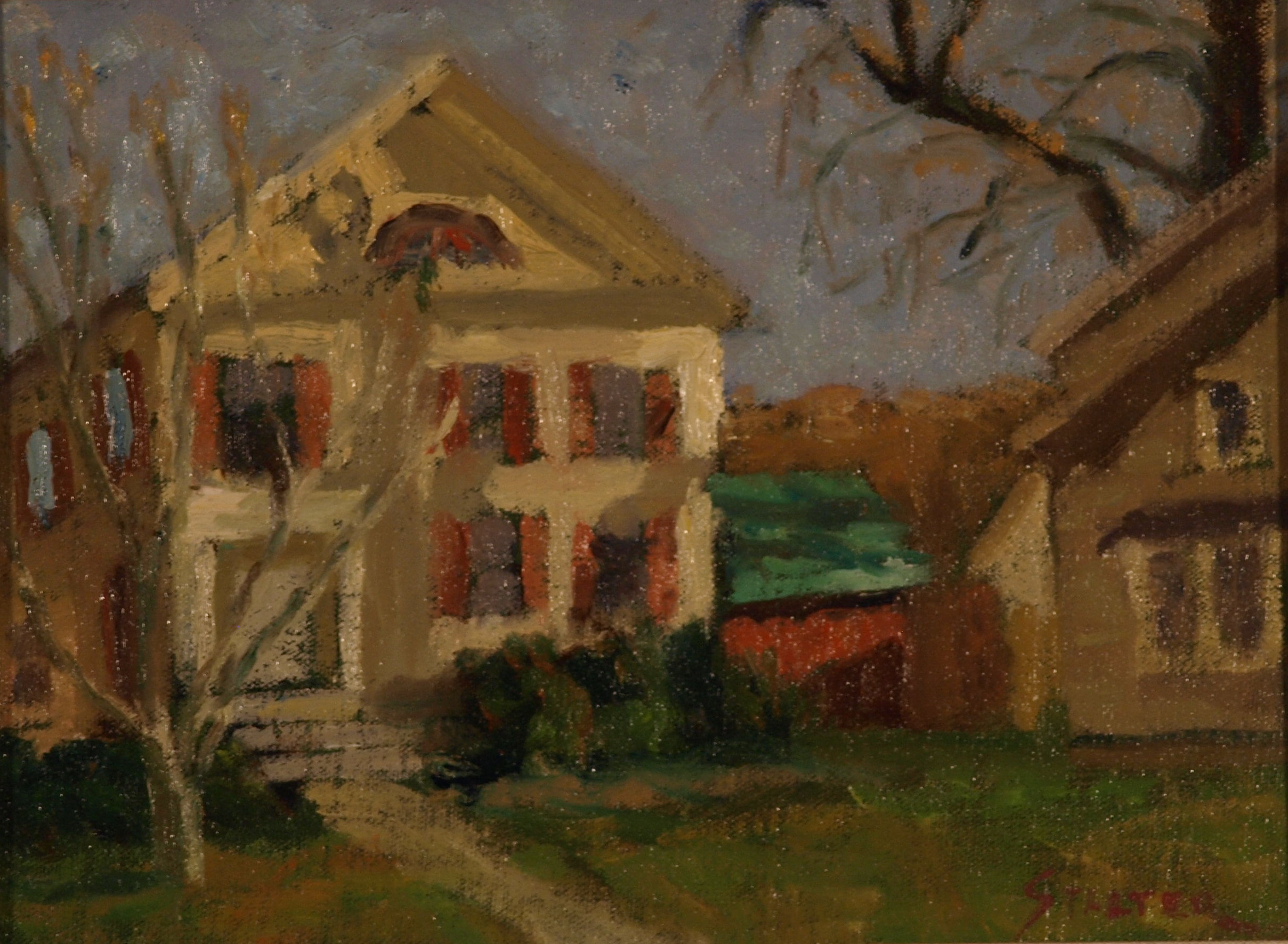 Library Annex, Oil on Canvas on Panel, 9 x 12 Inches, by Richard Stalter, $225