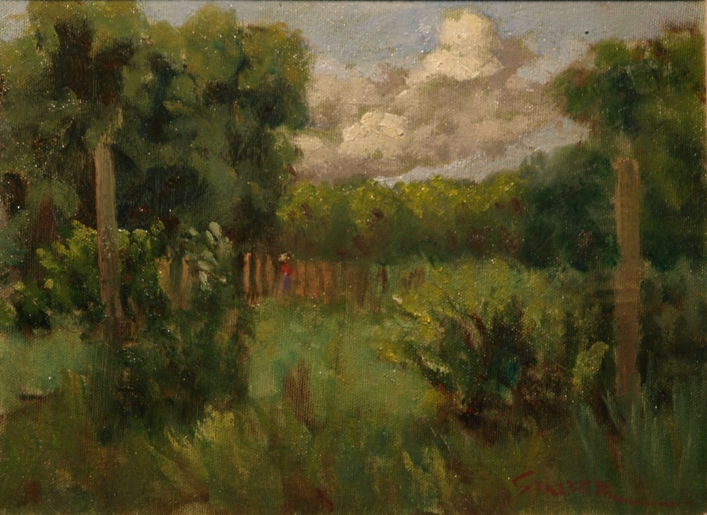 Megan Haney's Farm, Oil on Canvas on Panel, 9 x 12 Inches, by Richard Stalter, $225