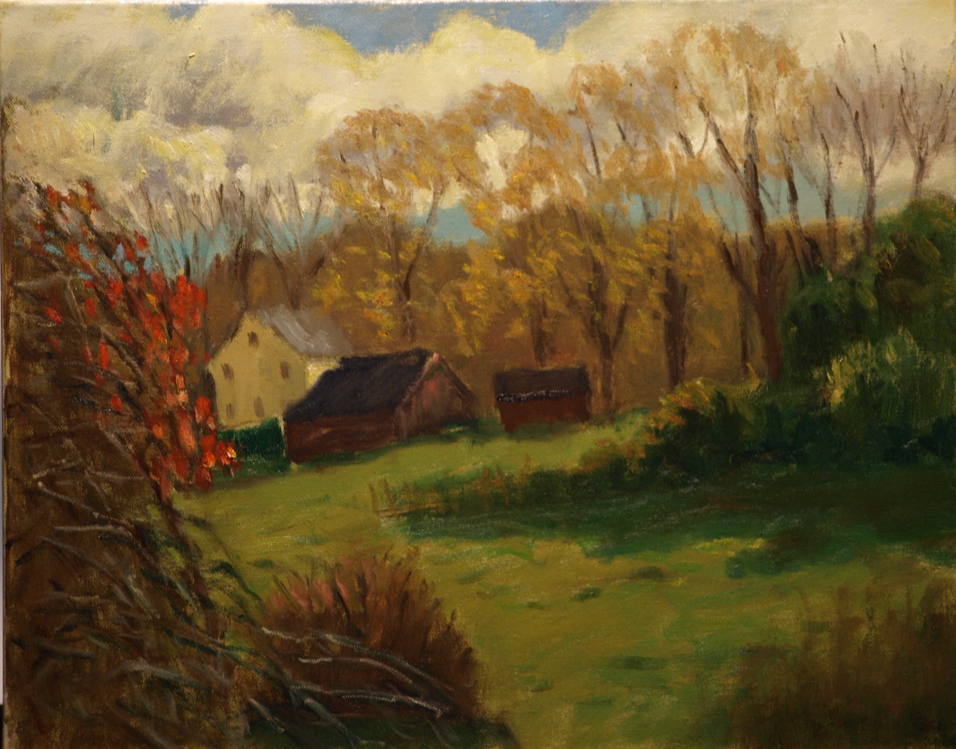 Fall - Edelstein's, Oil on Canvas, 16 x 20 Inches, by Richard Stalter, $650