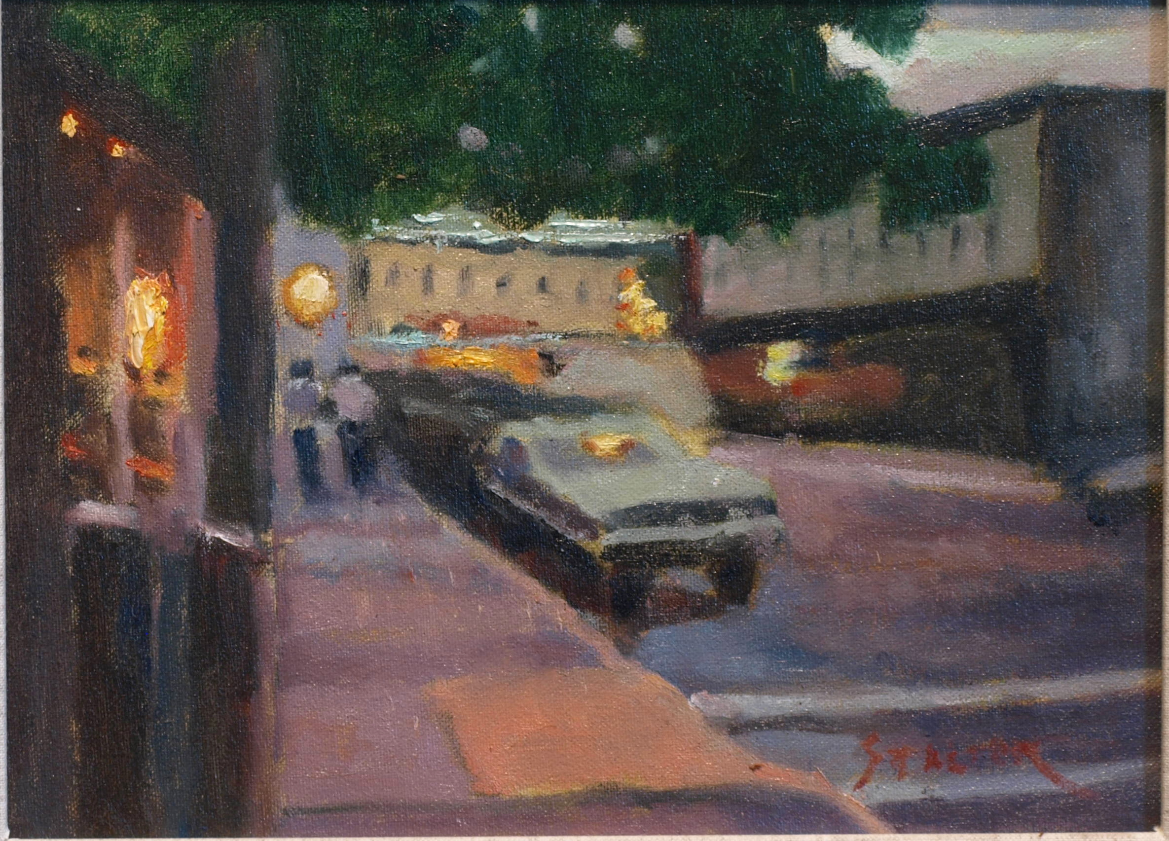 Mystic Evening, Oil on Canvas on Panel, 9 x 12 Inches, by Richard Stalter, $350