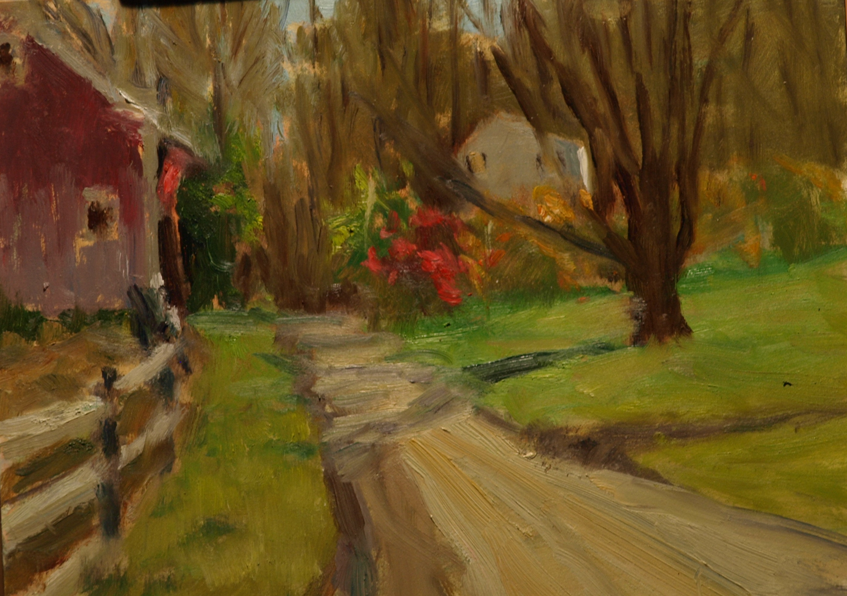 Newton's Autumn, Oil on Canvas on Panel, 9 x 12 Inches, by Richard Stalter, $225