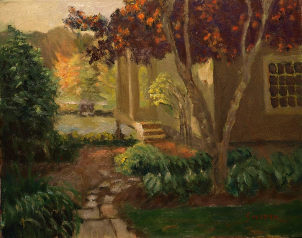 Looking Toward Lake Waramaug, Oil on Canvas, 16 x 20 Inches, by Richard Stalter, $650