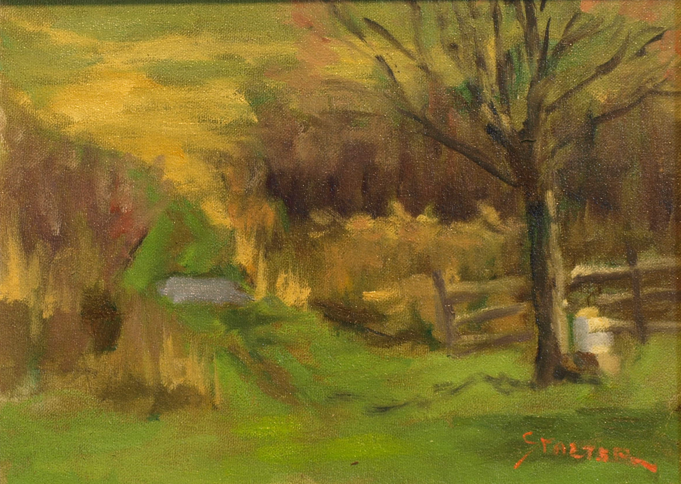 Bee Hive, Oil on Canvas on Panel, 9 x 12 Inches, by Richard Stalter, $220