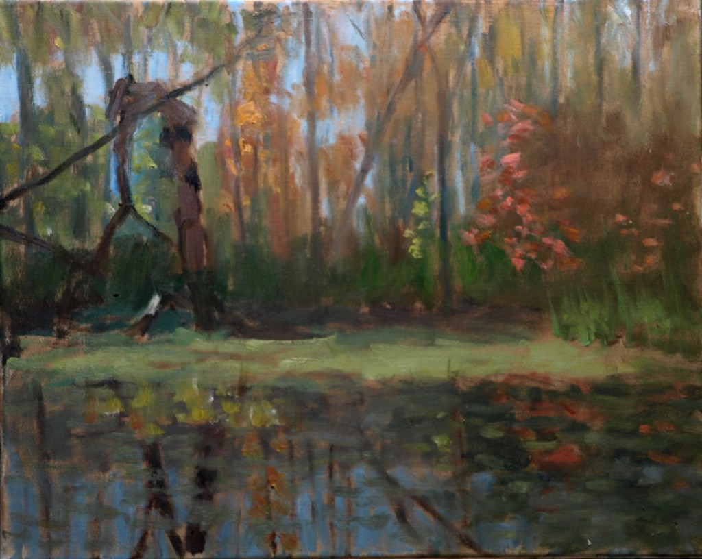 Amy's Marsh, Oil on Canvas, 16 x 20 Inches, by Richard Stalter, $450