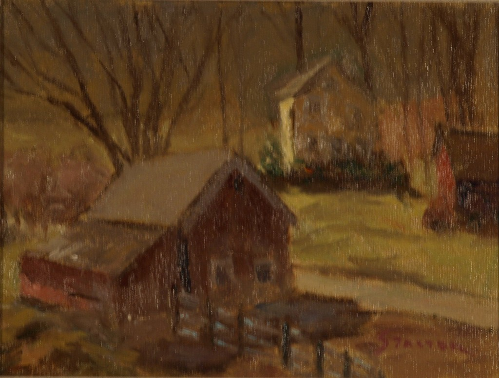 Hilltop View - Newton's Farm, Oil on Canvas on Panel, by Richard Stalter, $225