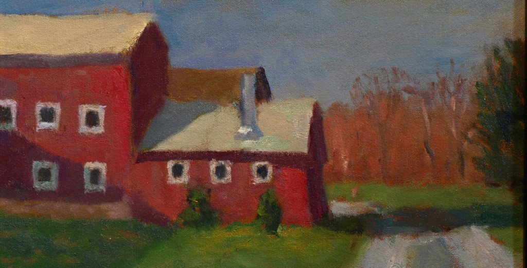 Sullivan Farms, Oil on Canvas on Panel, 8 x 14 Inches, by Richard Stalter, $220