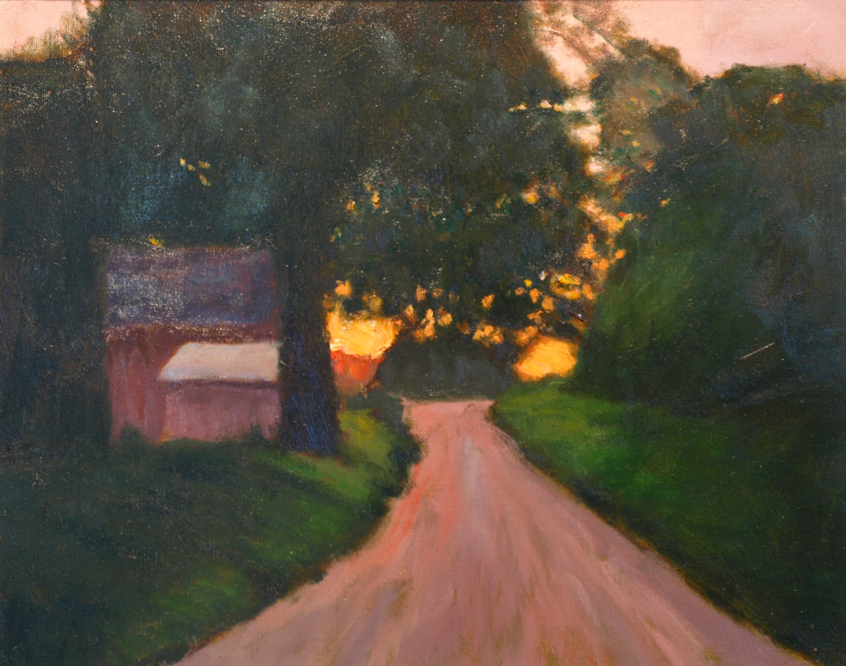 Glorious Sunset, Oil on Canvas, 20 x 24 Inches, by Richard Stalter, $650