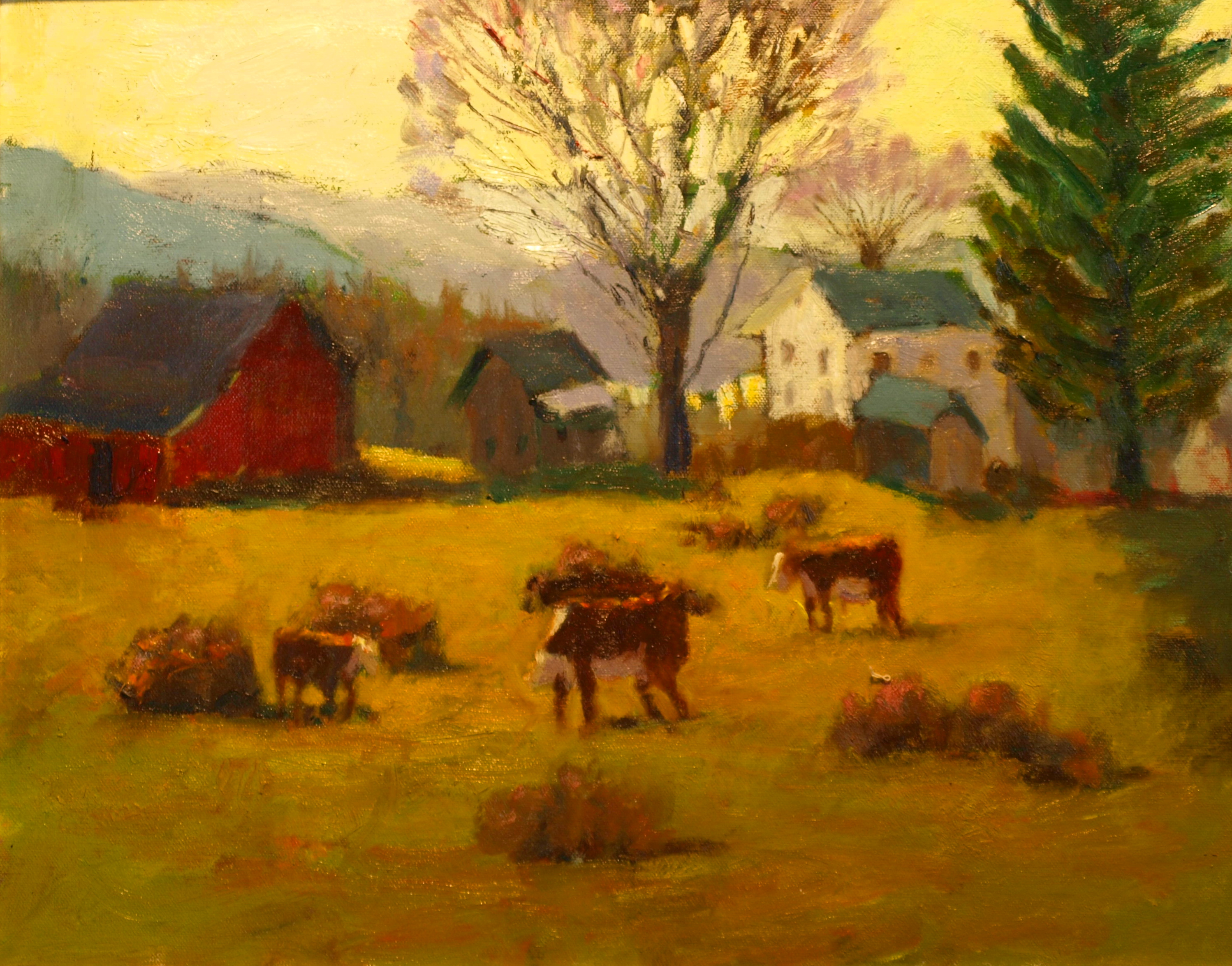 Washline, Oil on Canvas, 20 x 24 Inches, by Richard Stalter, $650