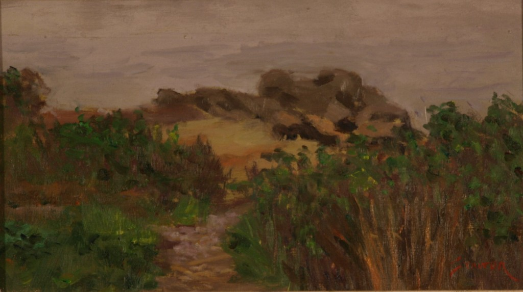 Nature Preserve Shoreline, Oil on Canvas on Panel, 8 x 14 Inches, by Richard Stalter, $225