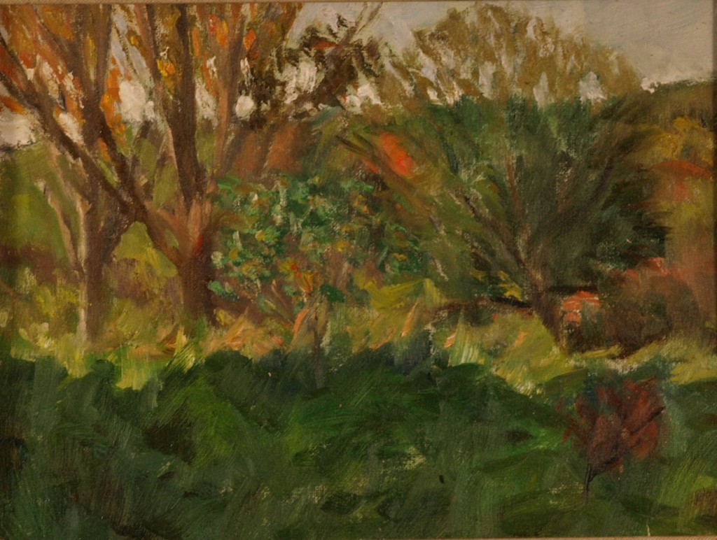 Early Autumn, Oil on Canvas on Panel, 9 x 12 Inches, by Richard Stalter, $225