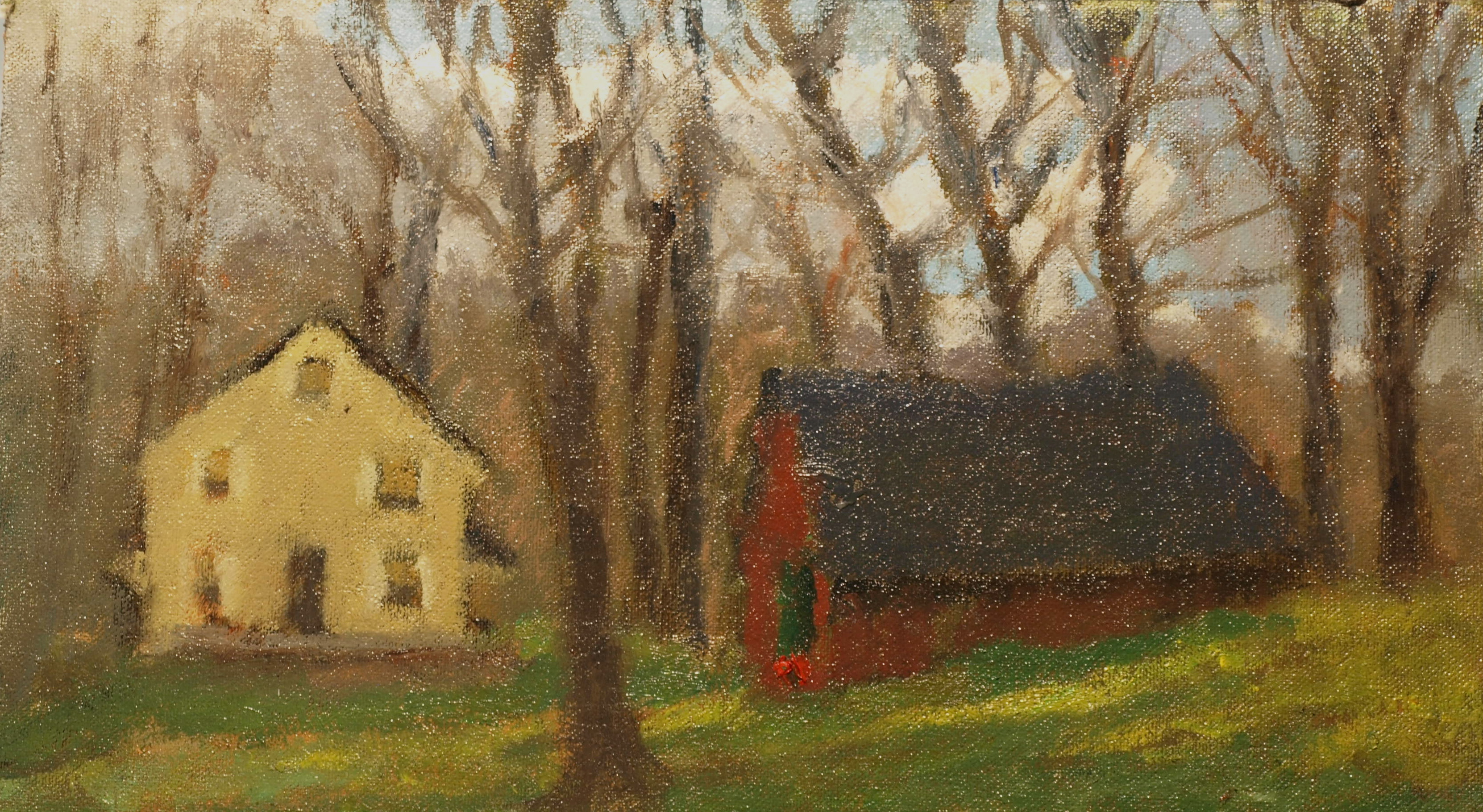 The Edelson Place, Oil on Canvas on Panel, 8 x 14 Inches, by Richard Stalter, $225