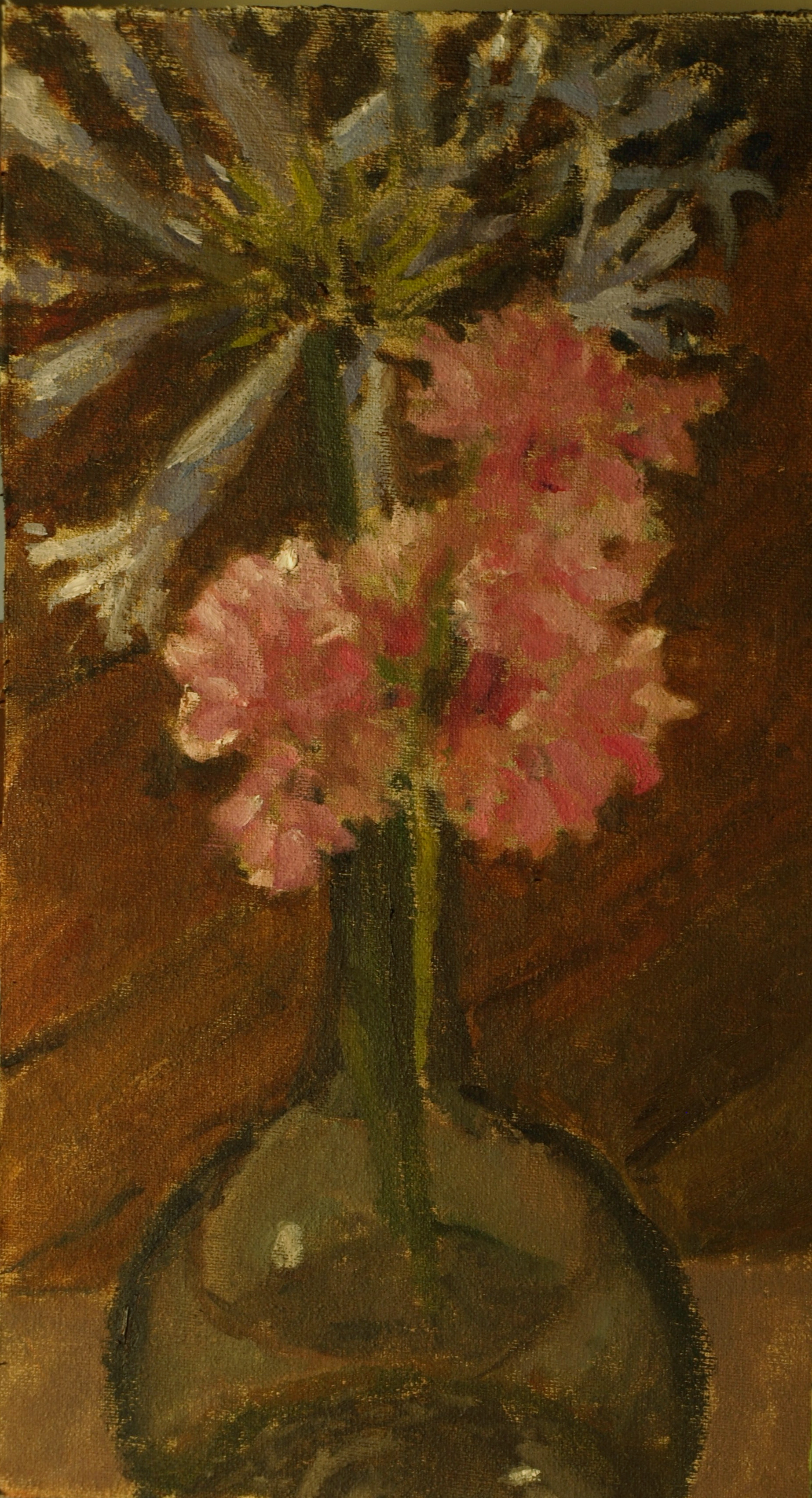 Seven Hearths Still Life, Oil on Canvas on Panel, 14 x 8 Inches, by Richard Stalter, $225