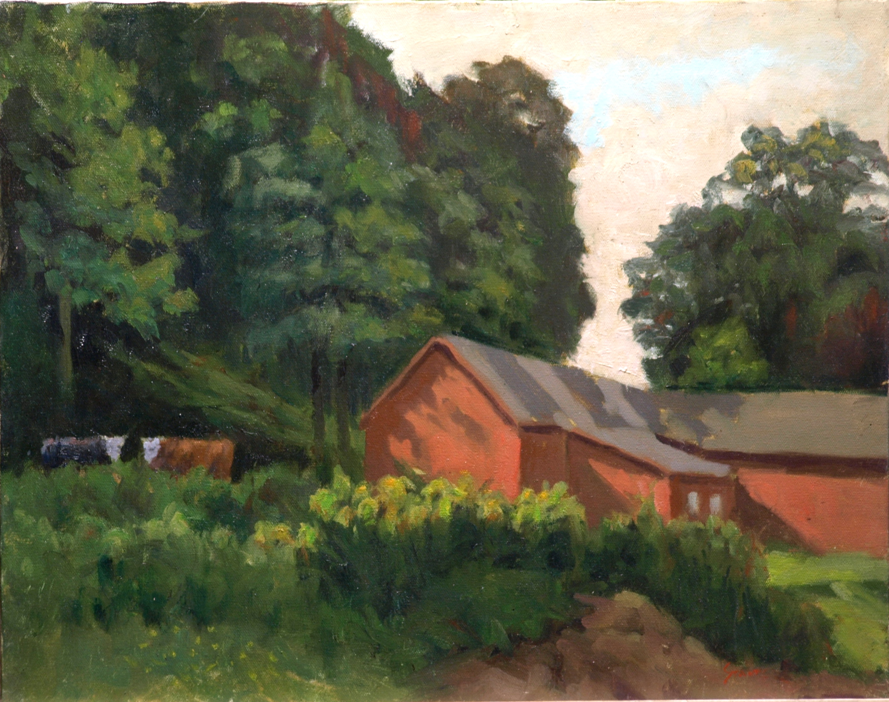 Milking Time, Oil on Canvas, 16 x 20 Inches, by Richard Stalter, $450