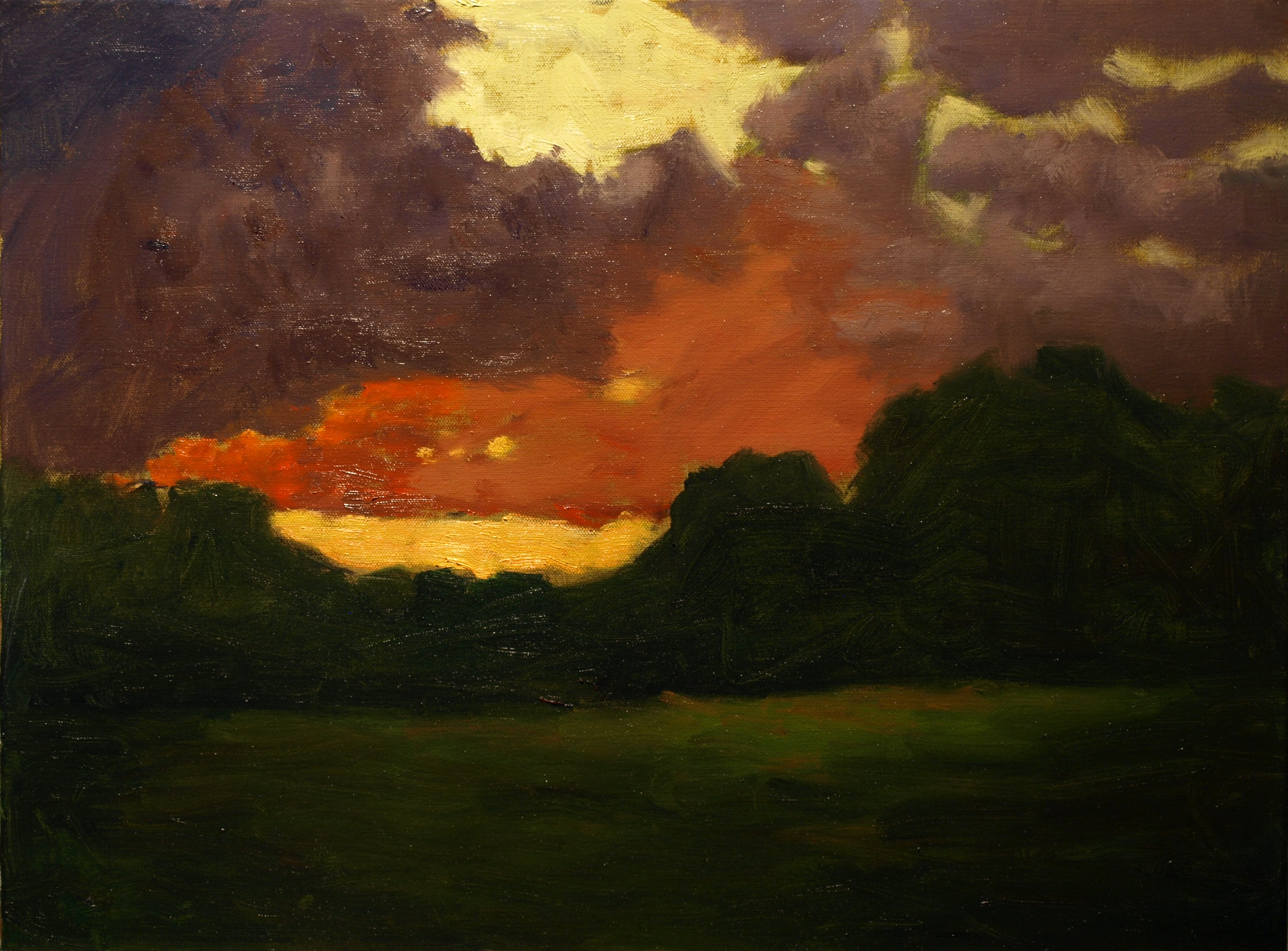 After the Heavy Rains, Oil on Canvas, 18 x 24 Inches, by Richard Stalter, $750