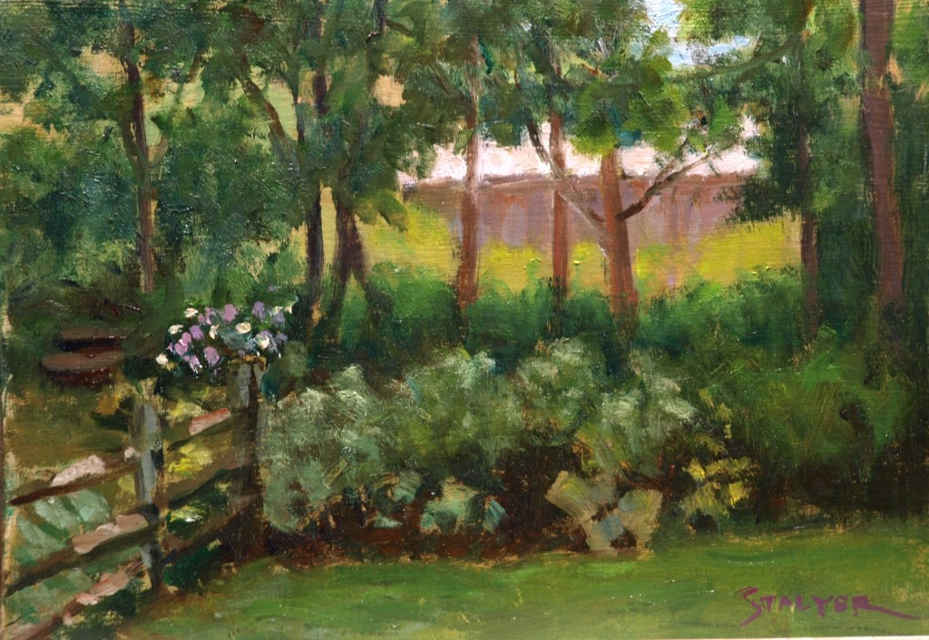 Hunt Hill Farm, Oil on Canvas on Panel, 9 x 12 Inches, by Richard Stalter, $225