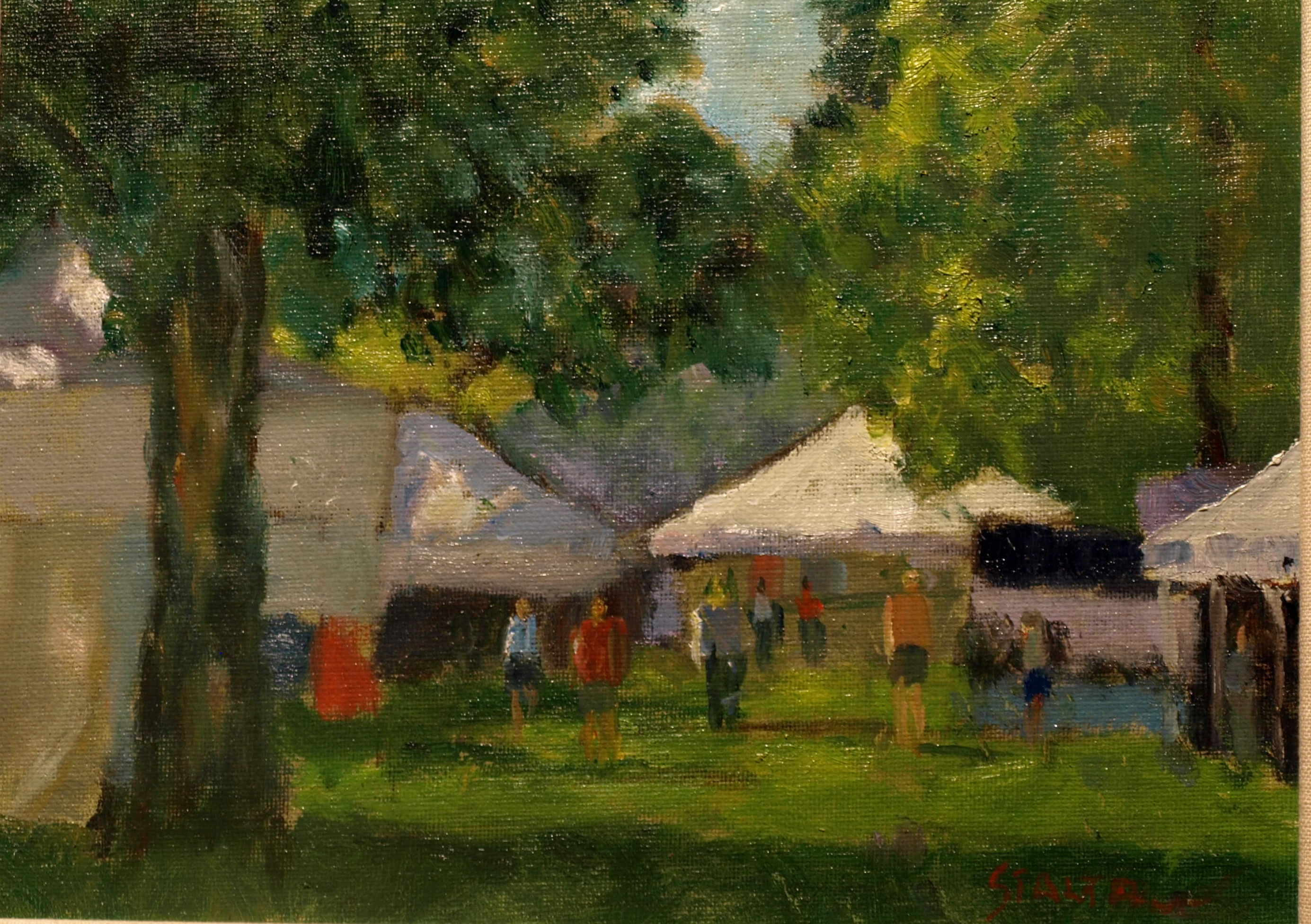 New Milford Fair Days, Oil on Canvas on Panel, 9 x 12 Inches, by Richard Stalter, $220