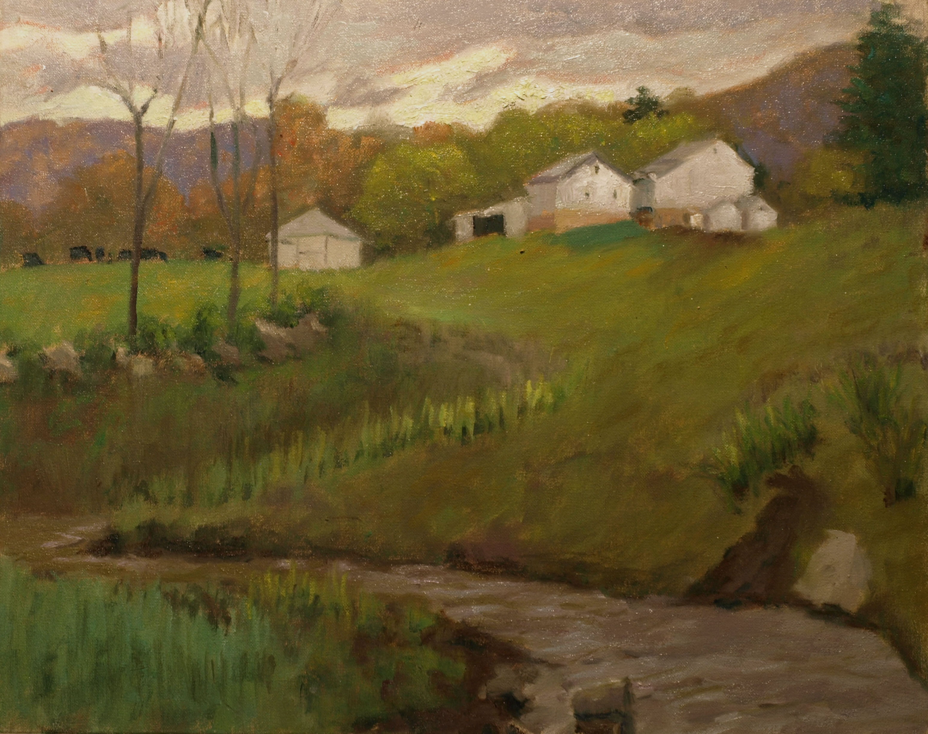 Summer at Smyrski Farm, Oil on Canvas, 16 x 20 Inches, by Richard Stalter, $450
