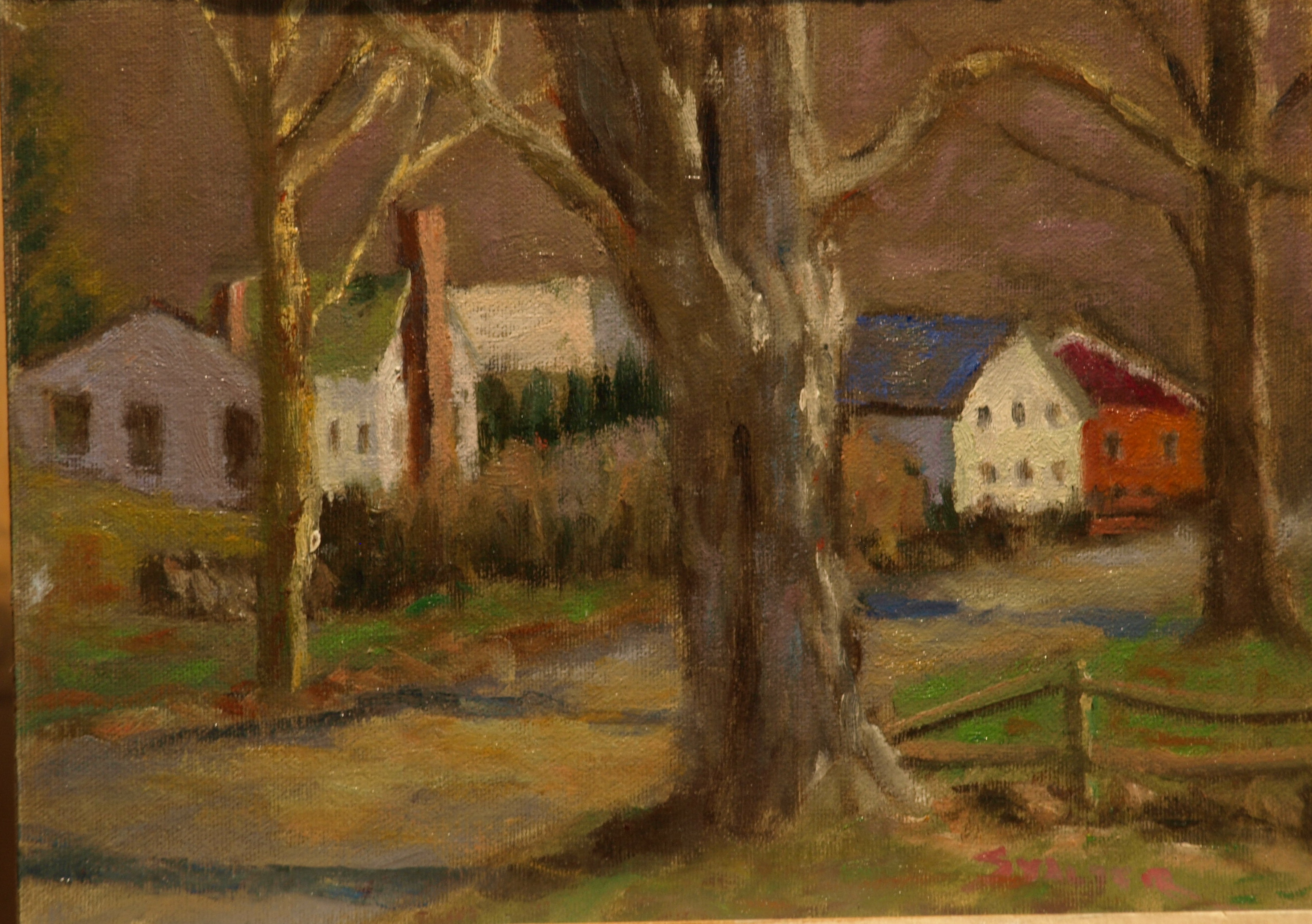 Old Maple, Oil on Canvas on Panel, 8 x 14 Inches, by Richard Stalter, $225