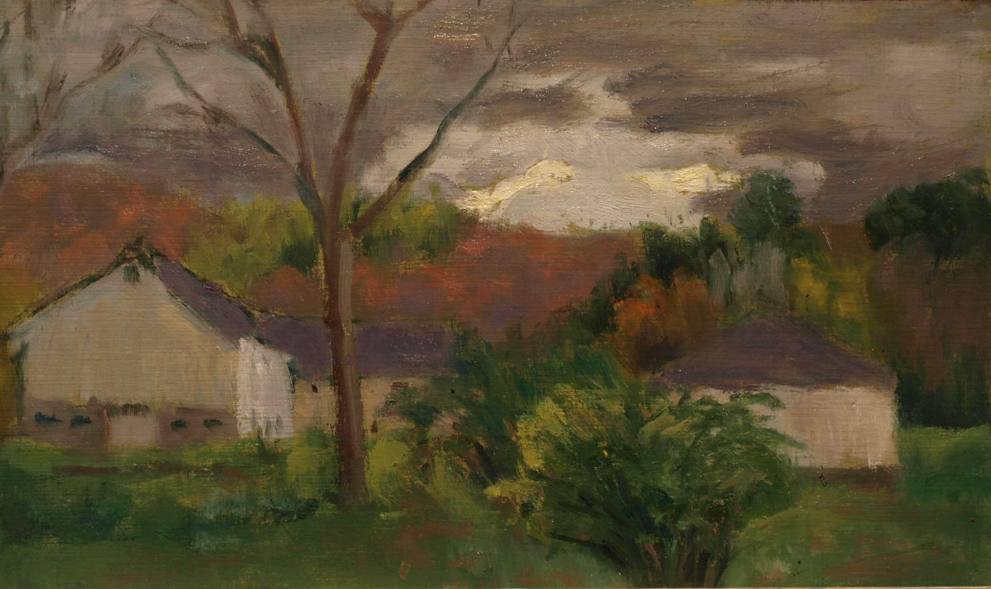 Storm Clouds, Oil on Canvas on Panel, 8 x 14 Inches, by Richard Stalter, $220