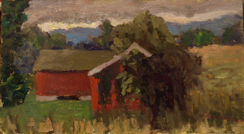 Summer Day -- Osborne's, Oil on Panel, 8 x 14 Inches, by Richard Stalter, $220