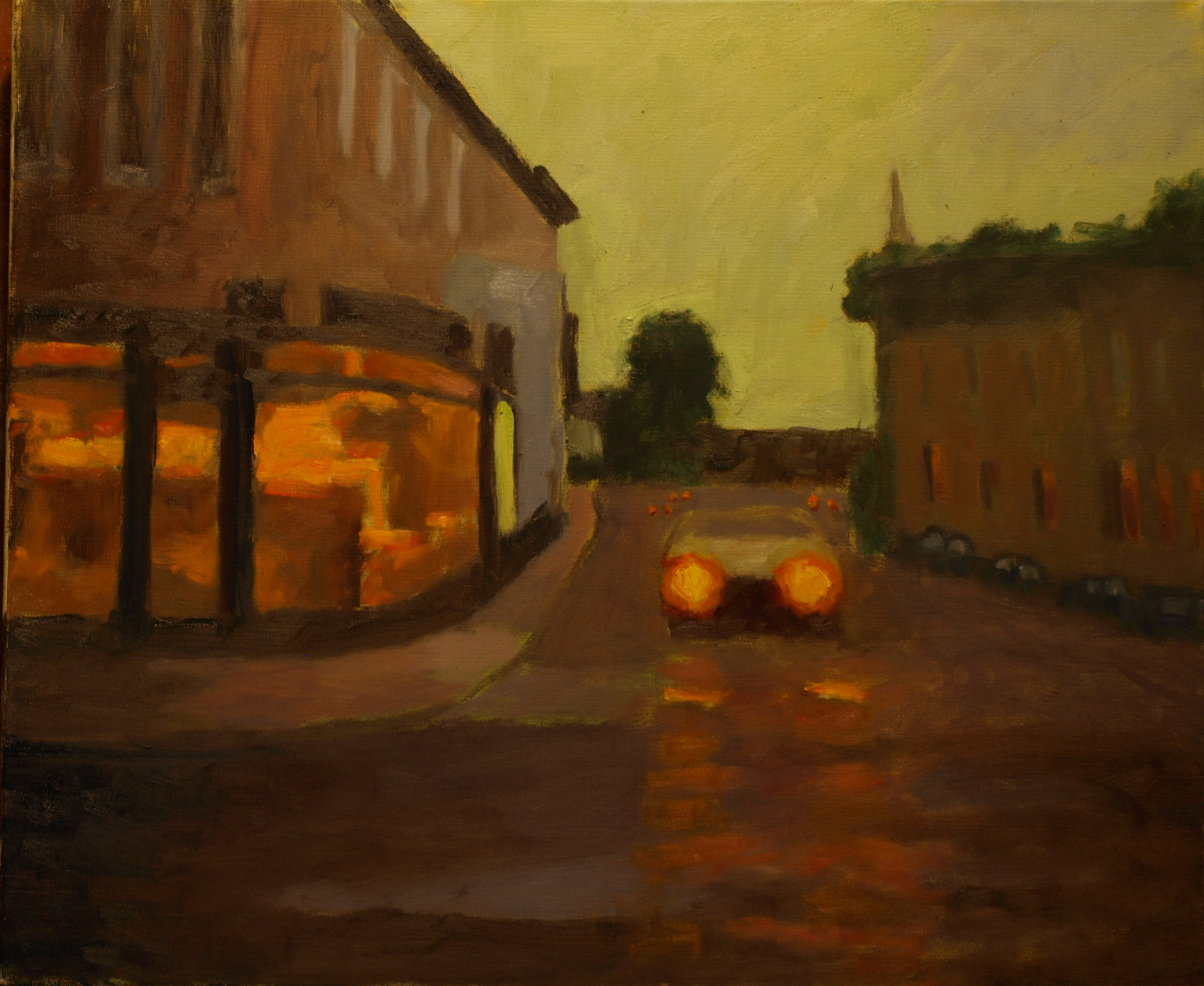 Mystic Evening, Oil on Canvas, 20 x 24 Inches, by Richard Stalter, $700