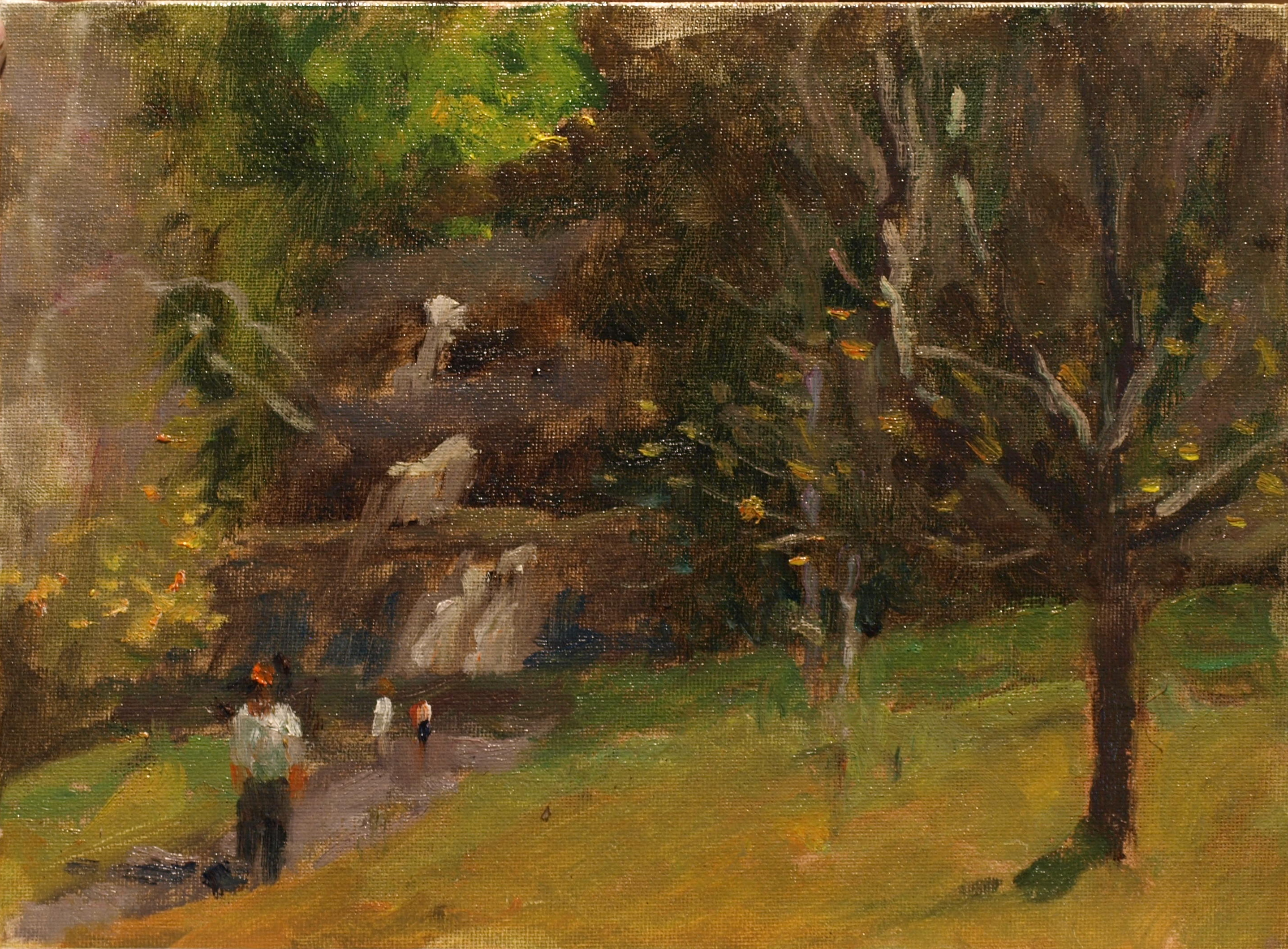 Path to Kent Falls, Oil on Canvas on Panel, 9 x 12 Inches, by Richard Stalter, $220