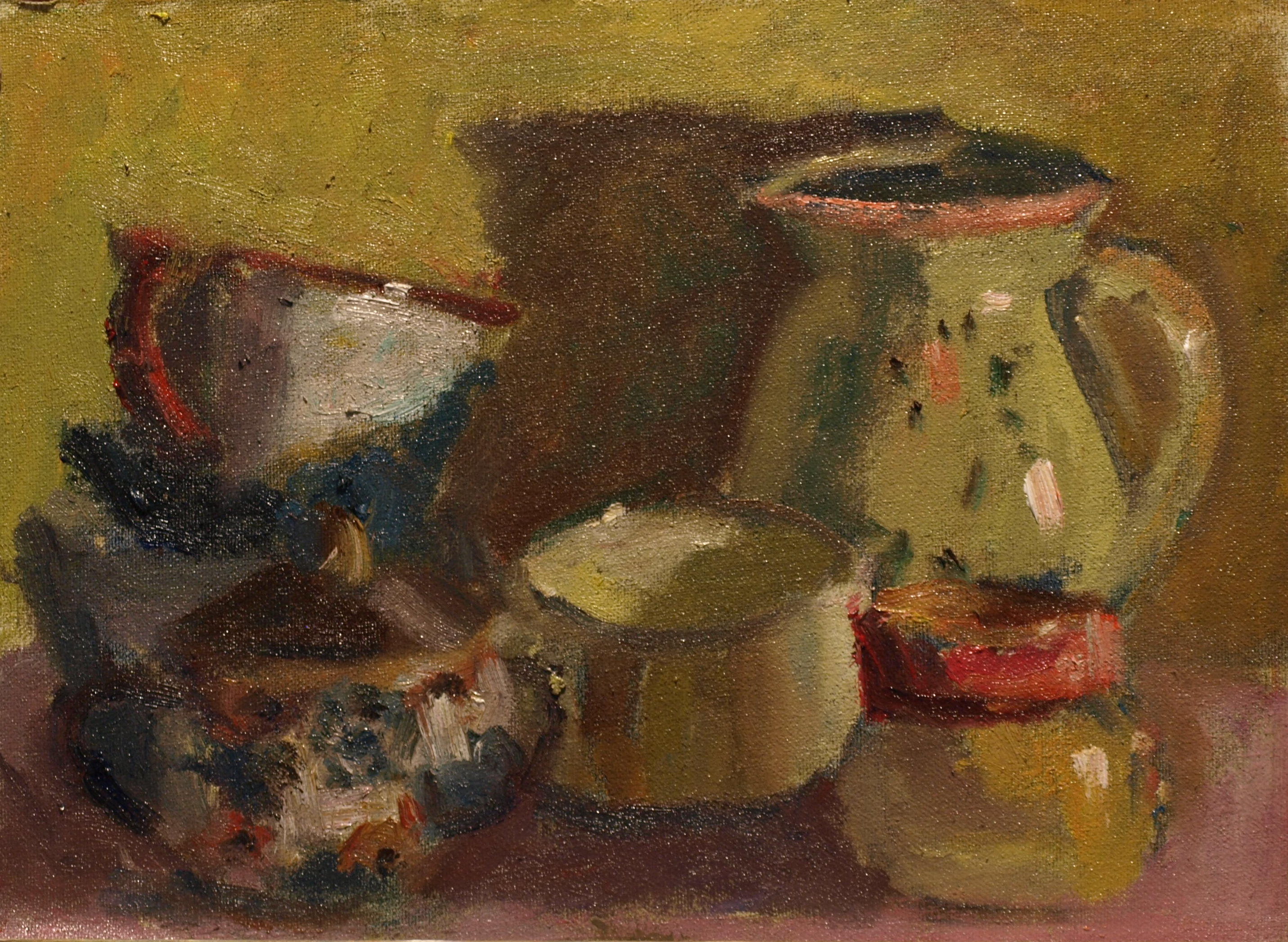 Brick-a-Brack, Oil on Canvas on Panel, 9 x 12 Inches, by Richard Stalter, $220