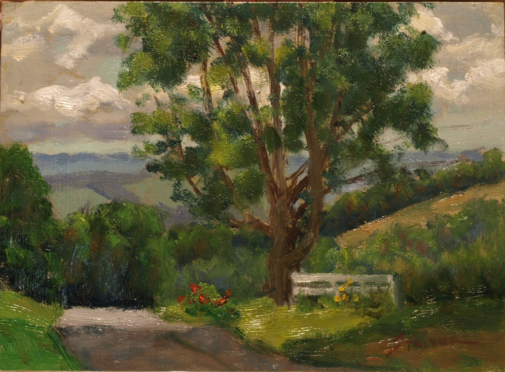 View from Geer Mountain, Oil on Panel, 9 x 12 Inches, by Richard Stalter, $220