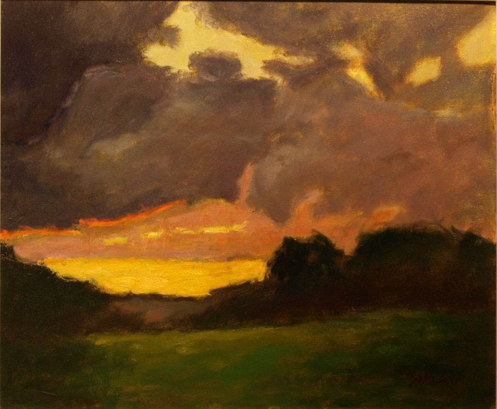 Last Light, Oil on Canvas, 20 x 24 Inches, by Richard Stalter, $650