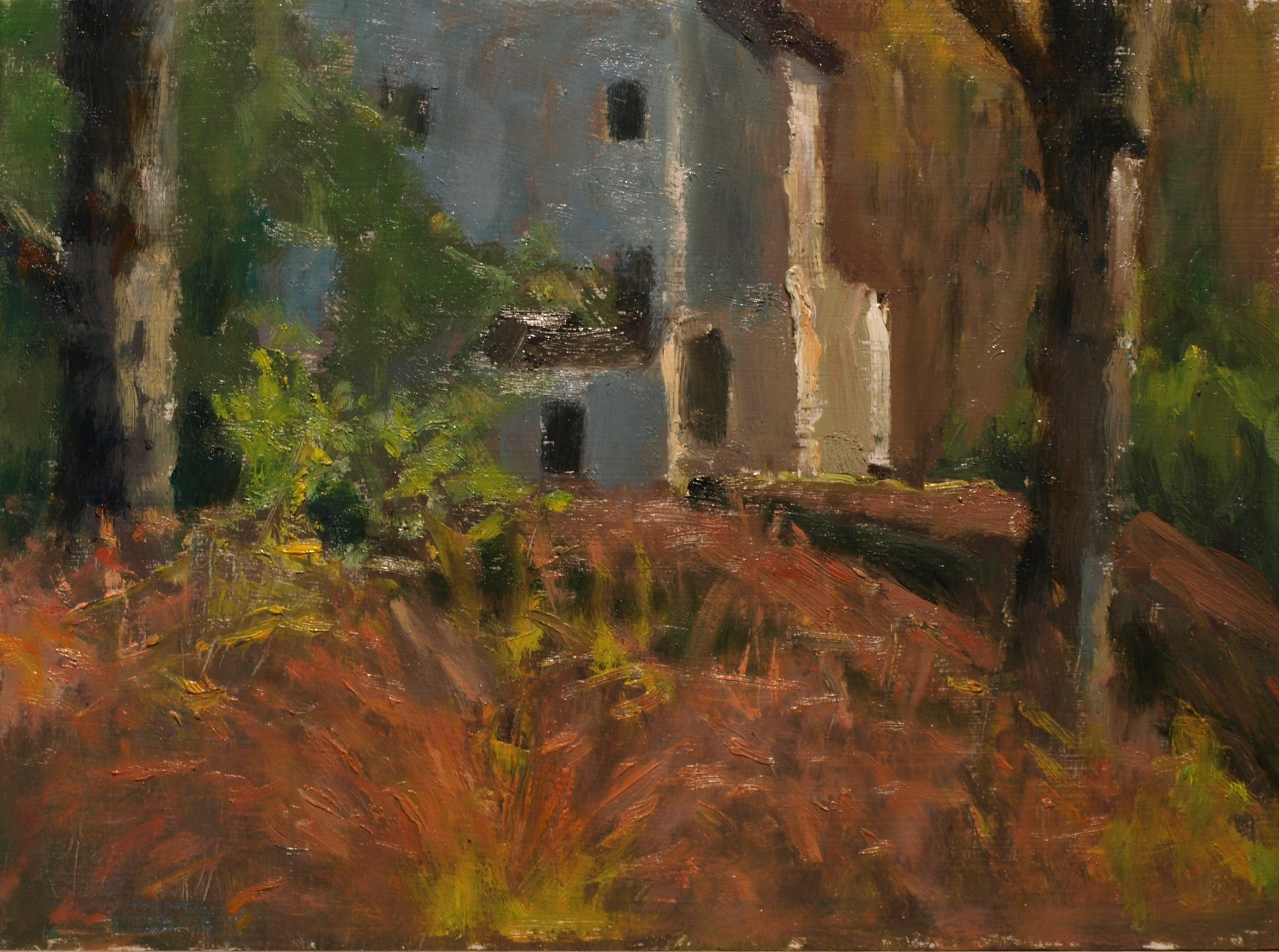 My House -- Autumn, Oil on Panel, 9 x 12 Inches, by Richard Stalter, $220