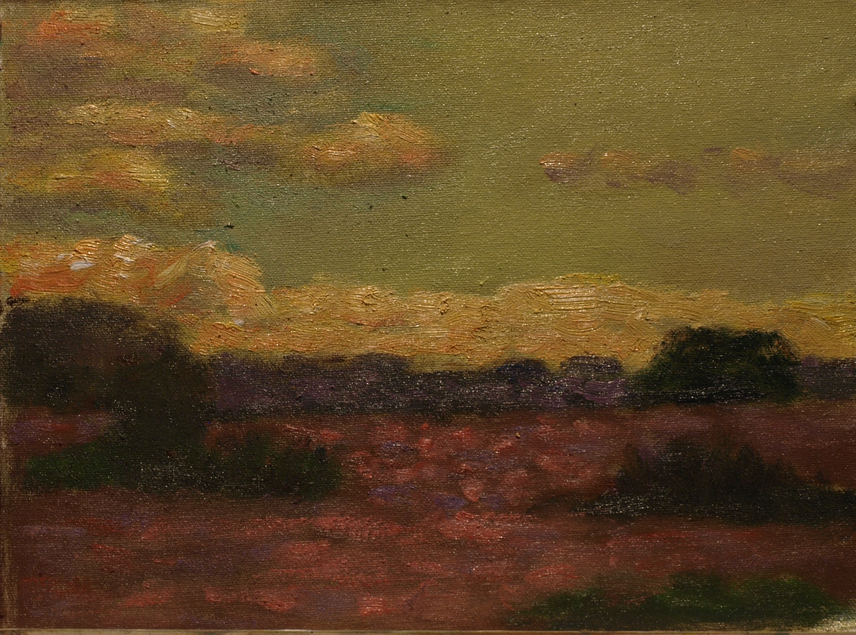Red Grasses, Oil on Canvas on Panel, 9 x 12 Inches, by Richard Stalter, $220