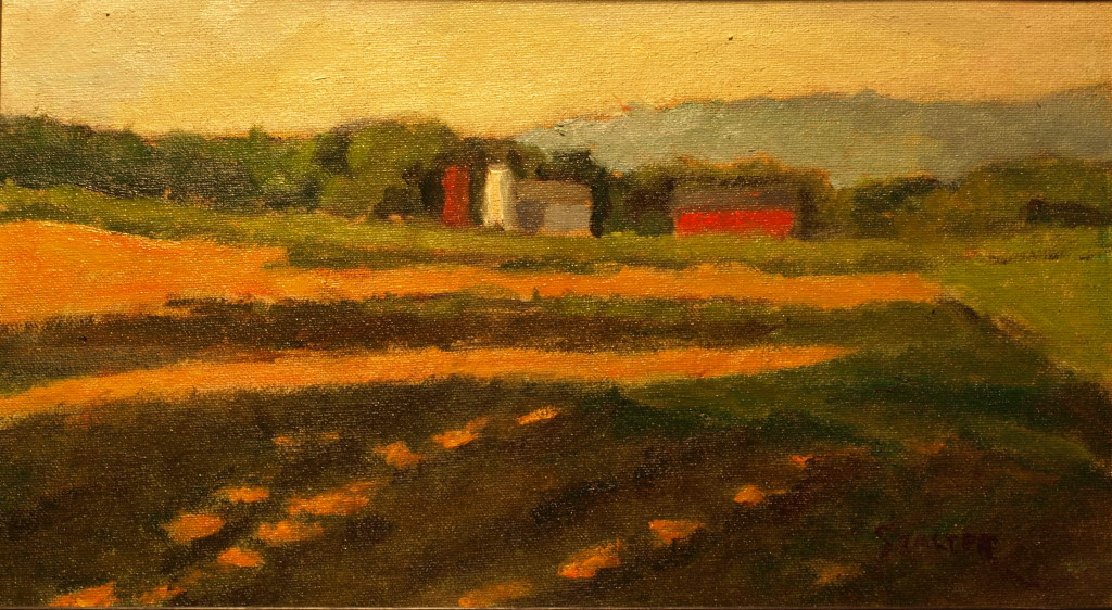 Late Afternoon Light, Oil on Canvas on Panel, 8 x 14 Inches, by Richard Stalter, $225