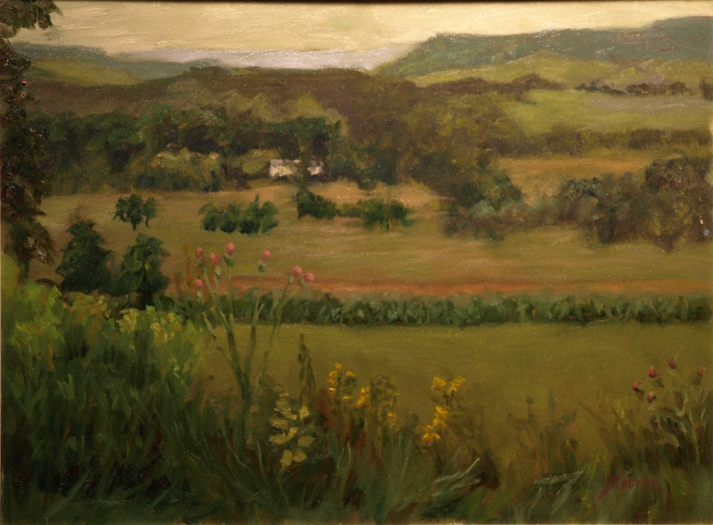 Across the Valley, Oil on Canvas, 18 x 24 Inches, by Richard Stalter, $650