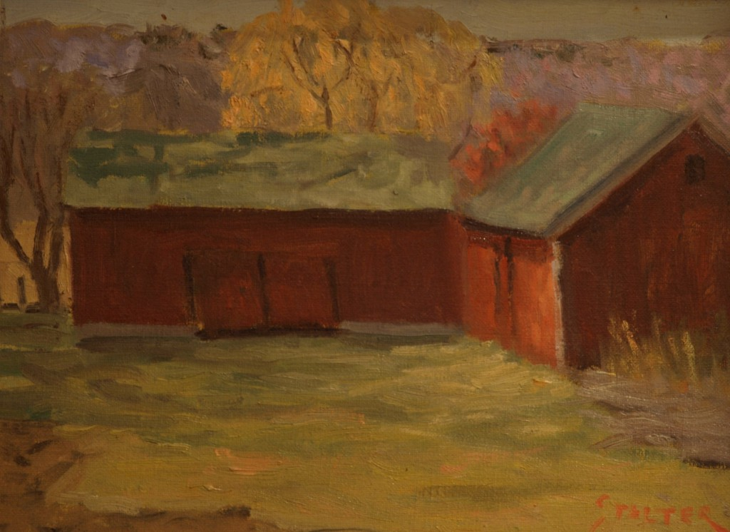 Autumn Afternoon - Osbourn's, Oil on Board, 9 x 12 Inches, by Richard Stalter, $225