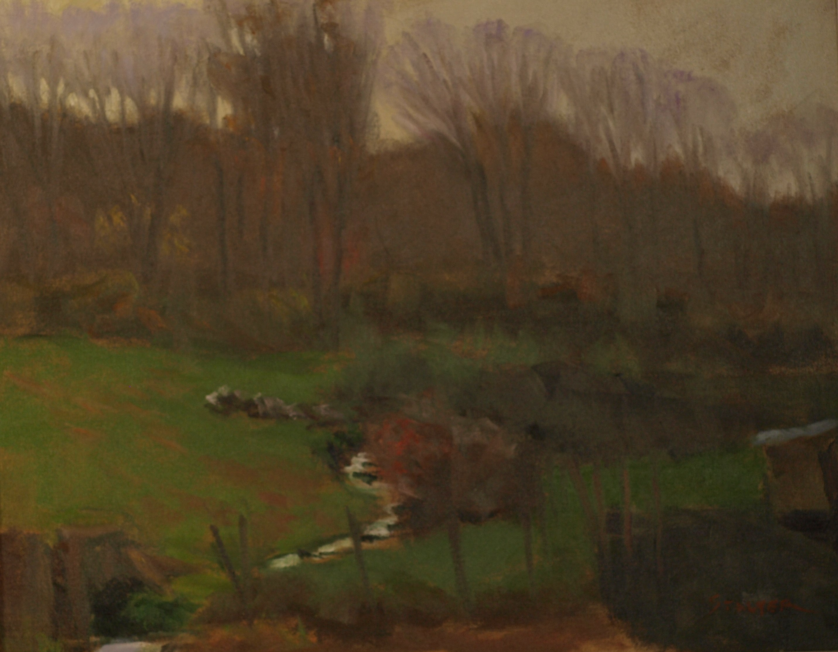 Autumn Haze - Hipp Farm, Oil on Canvas, 16 x 20 Inches, by Richard Stalter, $650