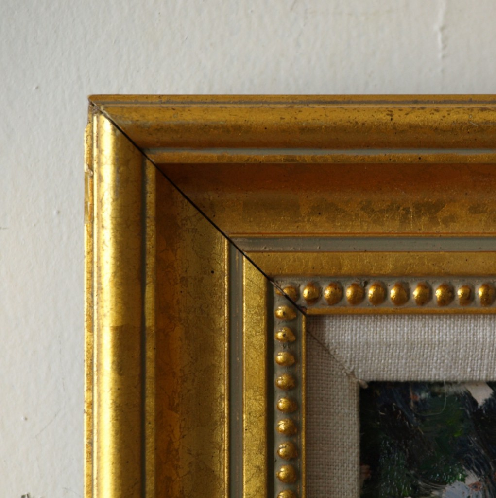 gold frame beaded inside 16 x 20 inches