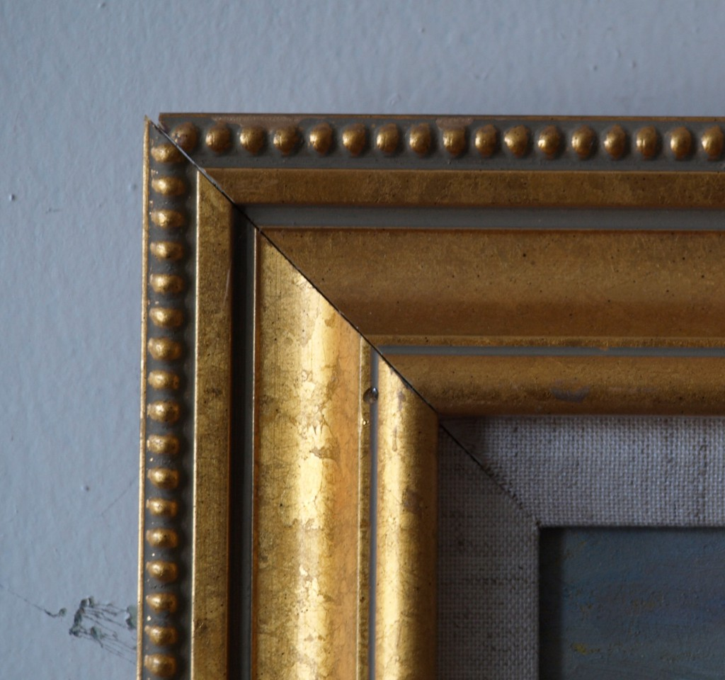gold frame beaded outside