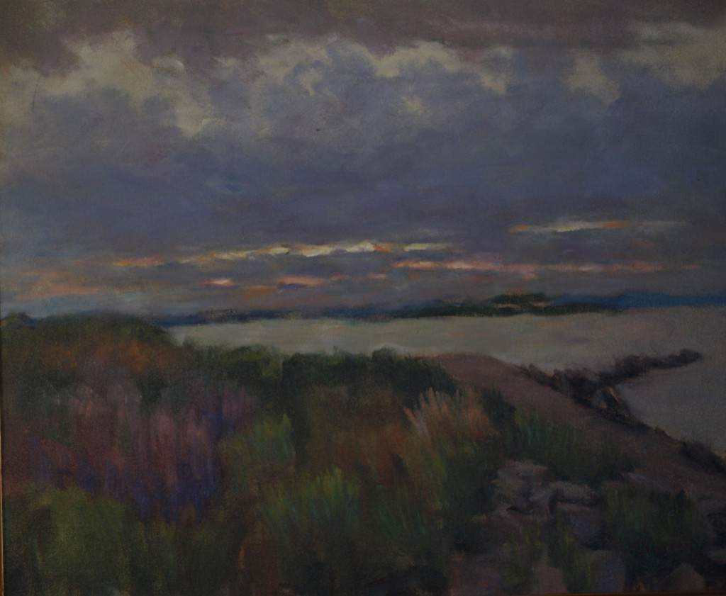 Daybreak - Stonington, Oil on Canvas, 20 x 24 Inches, by Richard Stalter, $850