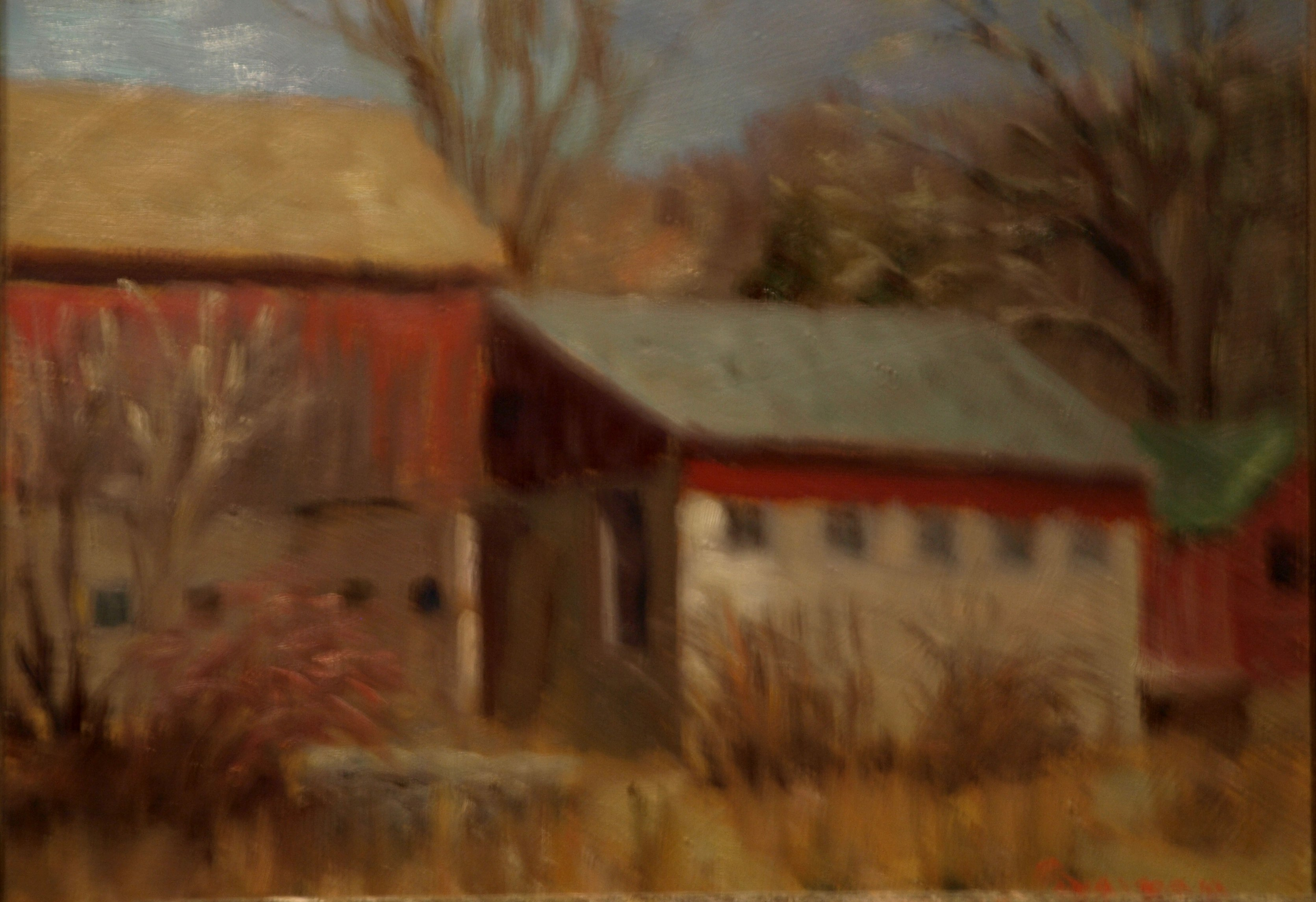 Farm on Mud Pond Road, Oil on Panel, 9 x 12 Inches, by Richard Stalter, $225